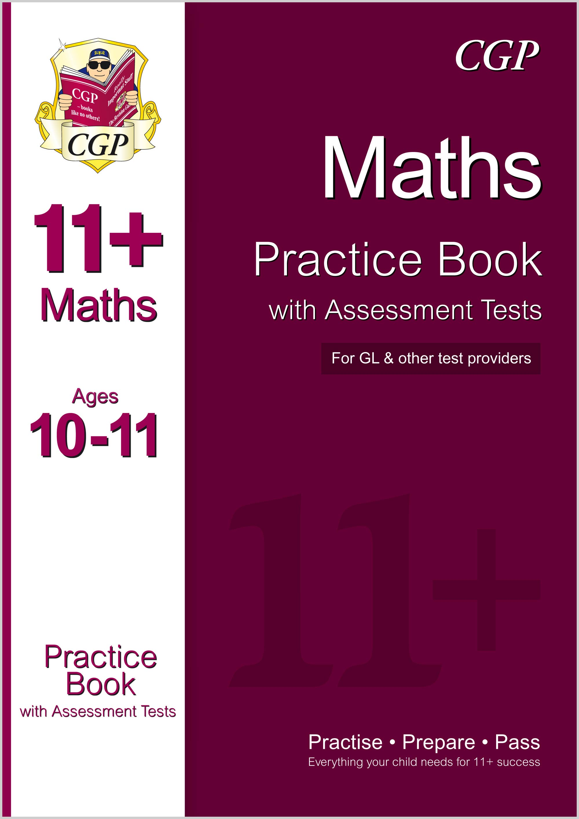 M6QE1 - 11+ Maths Practice Book with Assessment Tests Ages 10-11 (for GL & Other Test Providers)