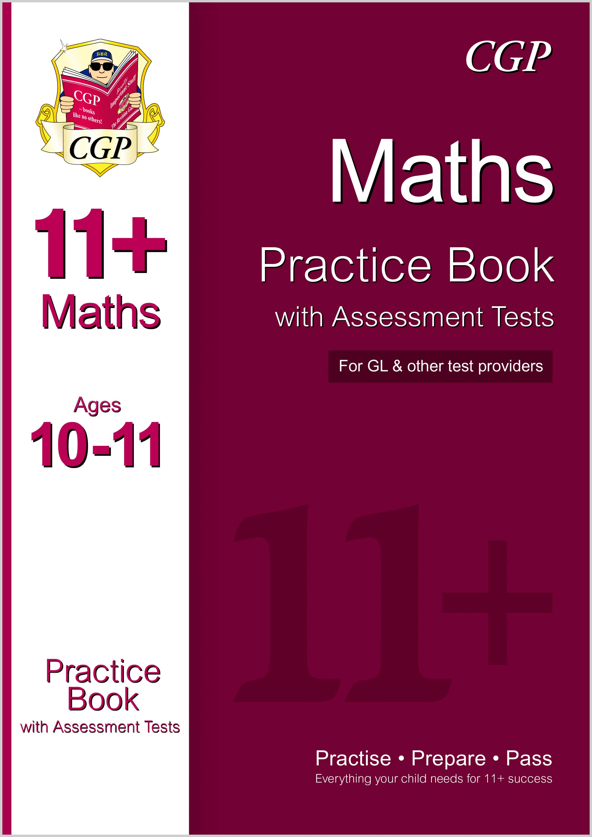 M6QE1DK - 11+ Maths Practice Book with Assessment Tests Ages 10-11 (for GL & Other Test Providers)