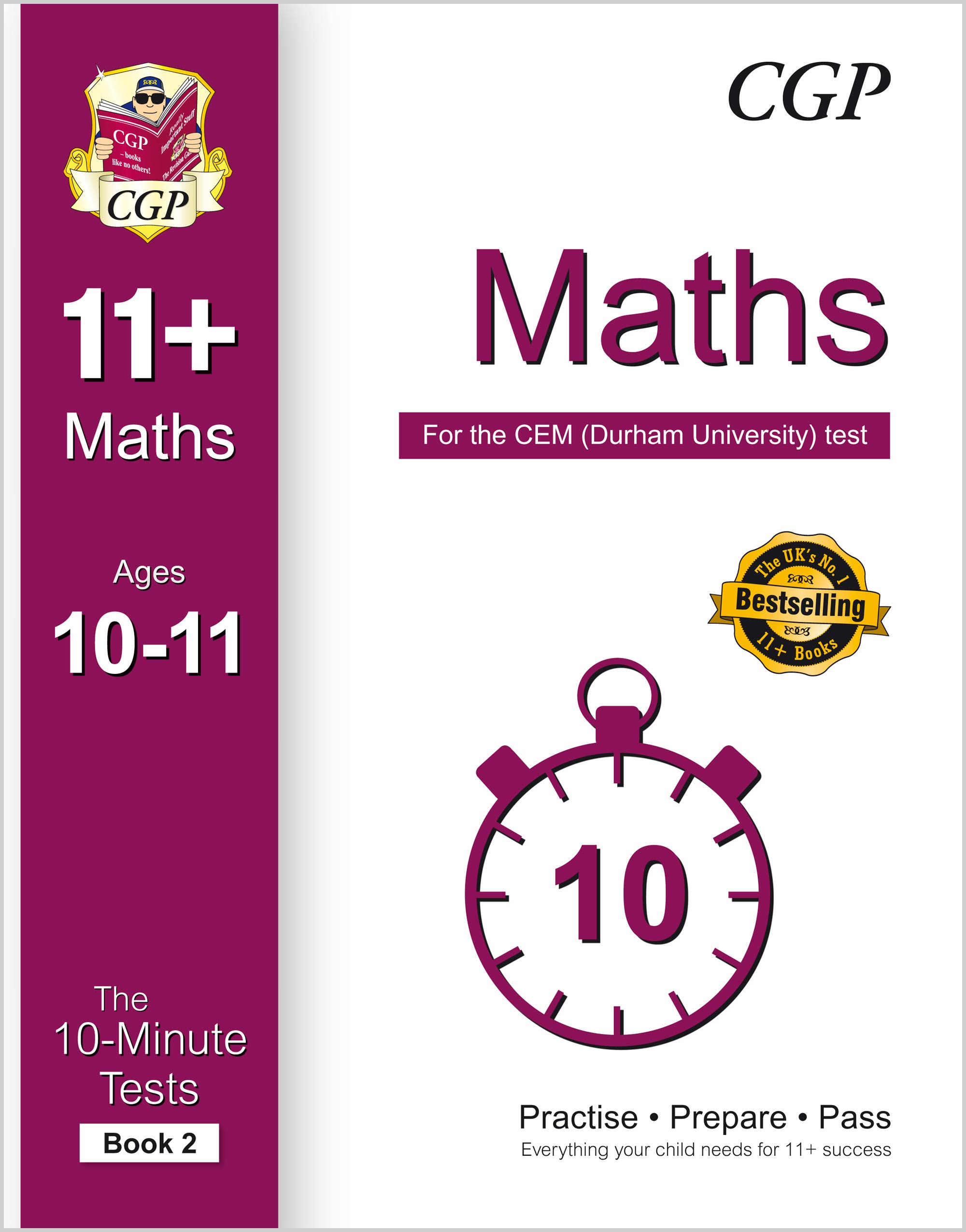 M6XPD2E1 - 10-Minute Tests for 11+ Maths Ages 10-11 (Book 2) - CEM Test