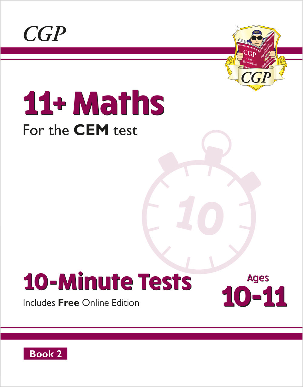 M6XPD2E2 - New 11+ CEM 10-Minute Tests: Maths - Ages 10-11 Book 2 (with Online Edition)