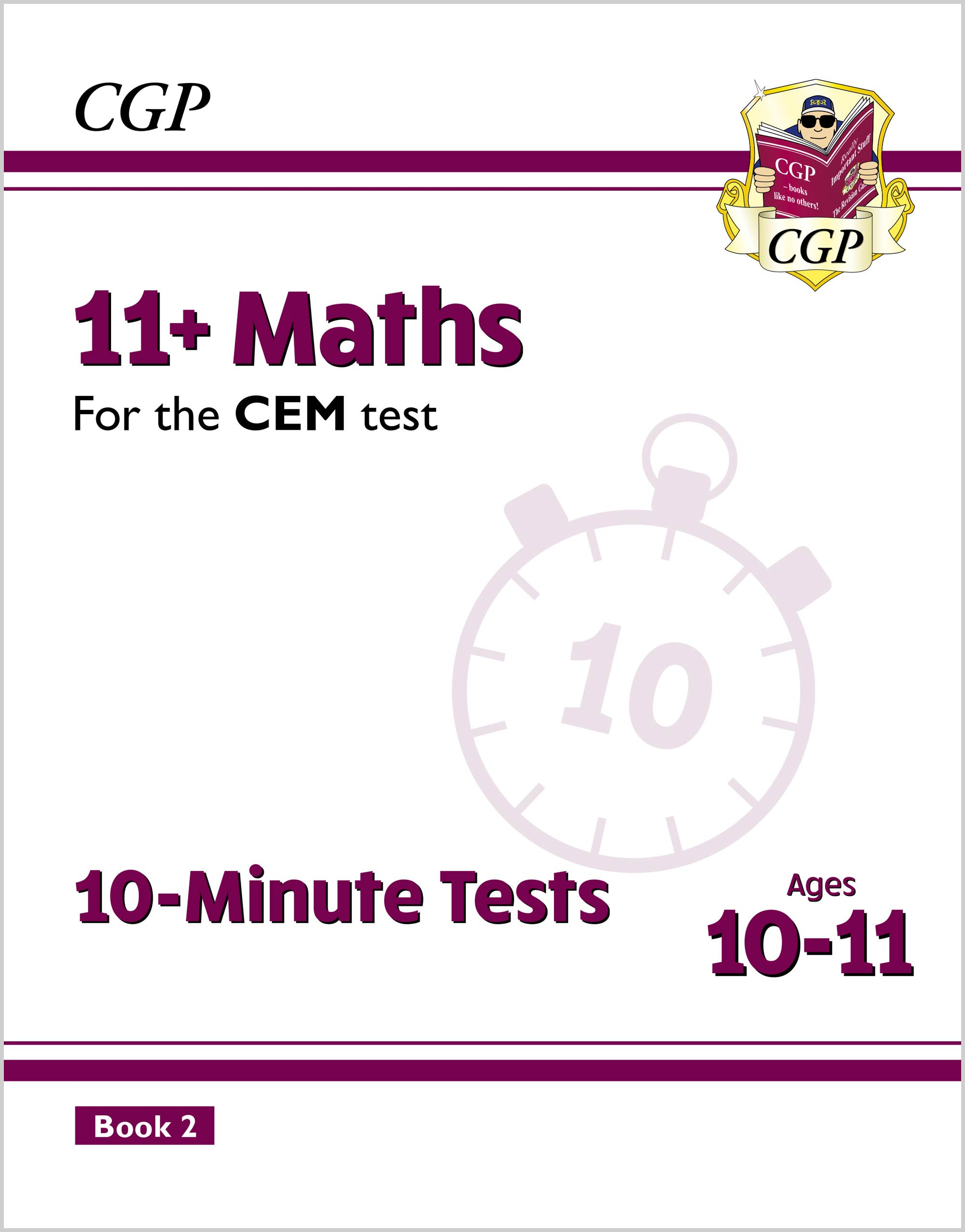 M6XPD2E2DK - New 11+ CEM 10-Minute Tests: Maths - Ages 10-11 Book 2 (with Online Edition)