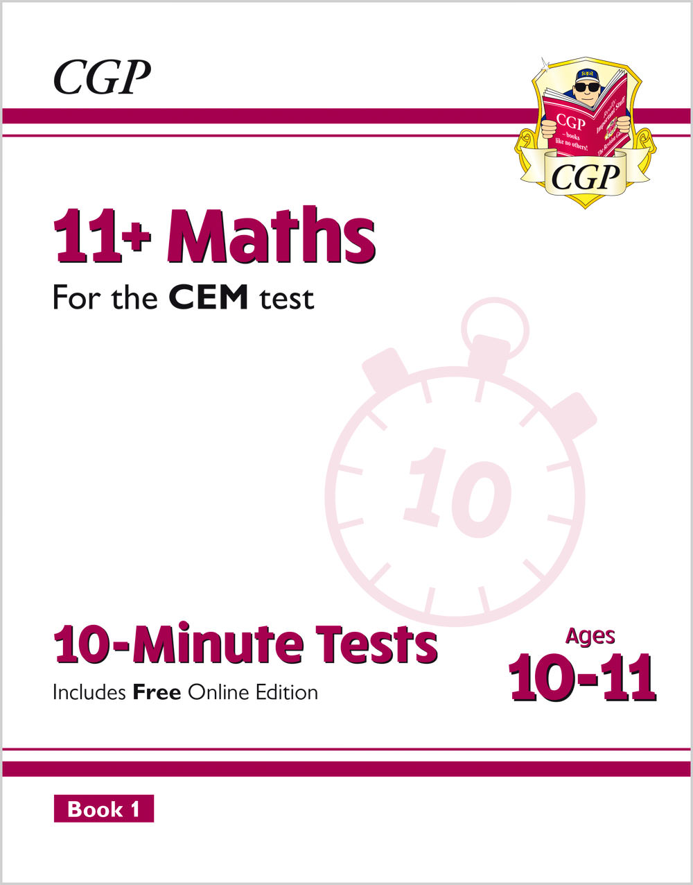 M6XPDE2 - 11+ CEM 10-Minute Tests: Maths - Ages 10-11 Book 1 (with Online Edition)