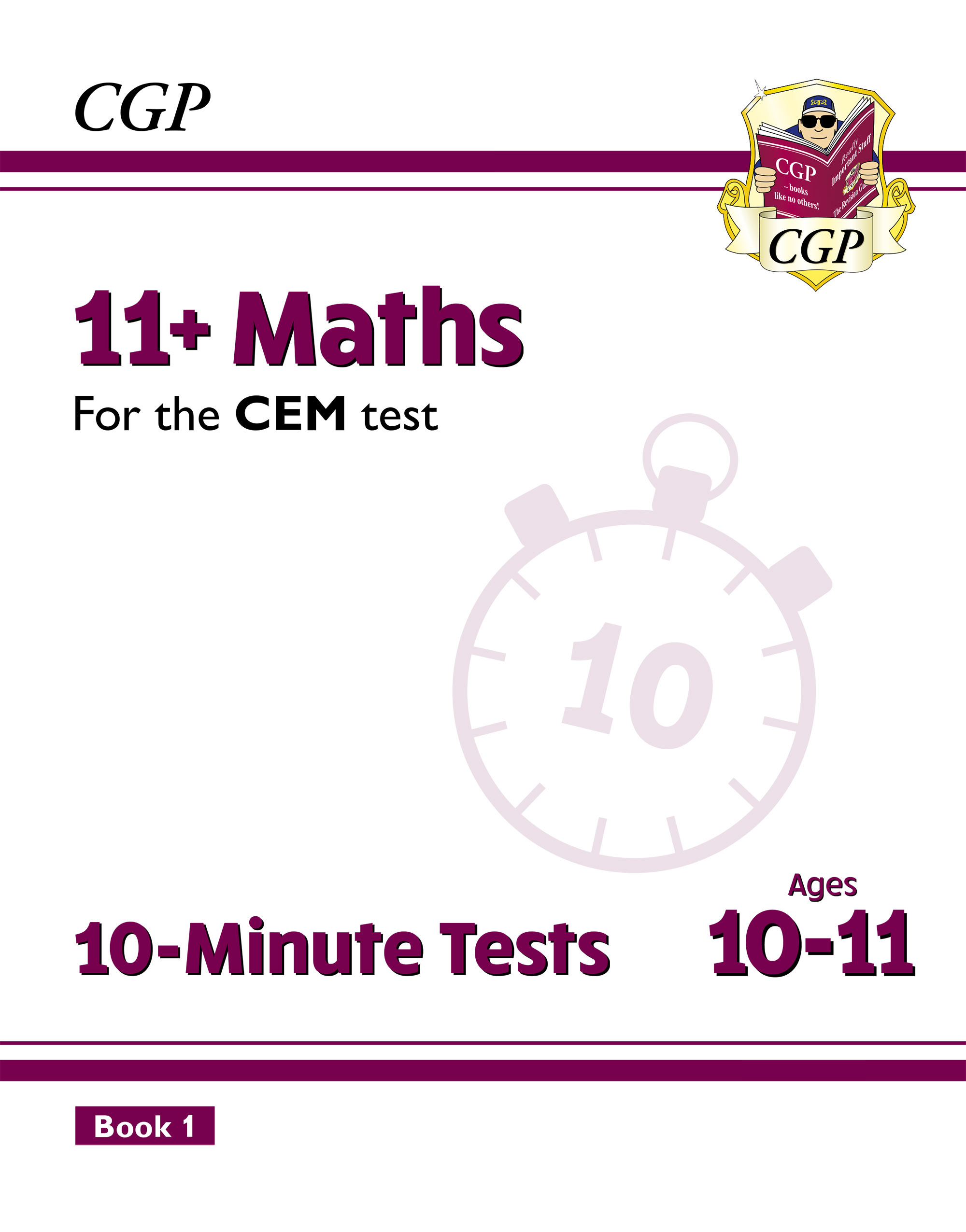 M6XPDE2DK - New 11+ CEM 10-Minute Tests: Maths - Ages 10-11 Book 1 (with Online Edition)