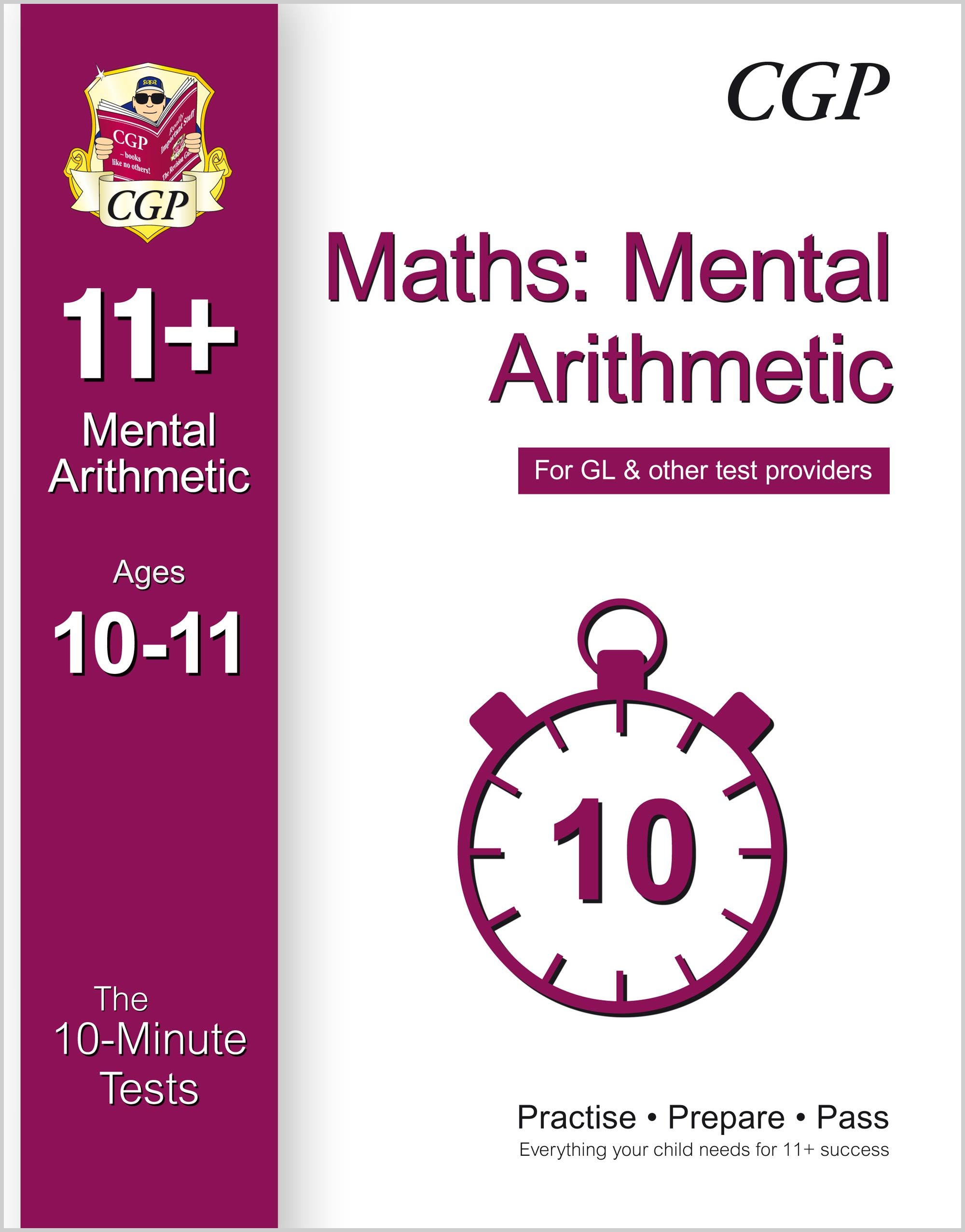 MAXPE1 - 10-Minute Tests for 11+ Maths: Mental Arithmetic Ages 10-11 - for GL & Other Test Providers