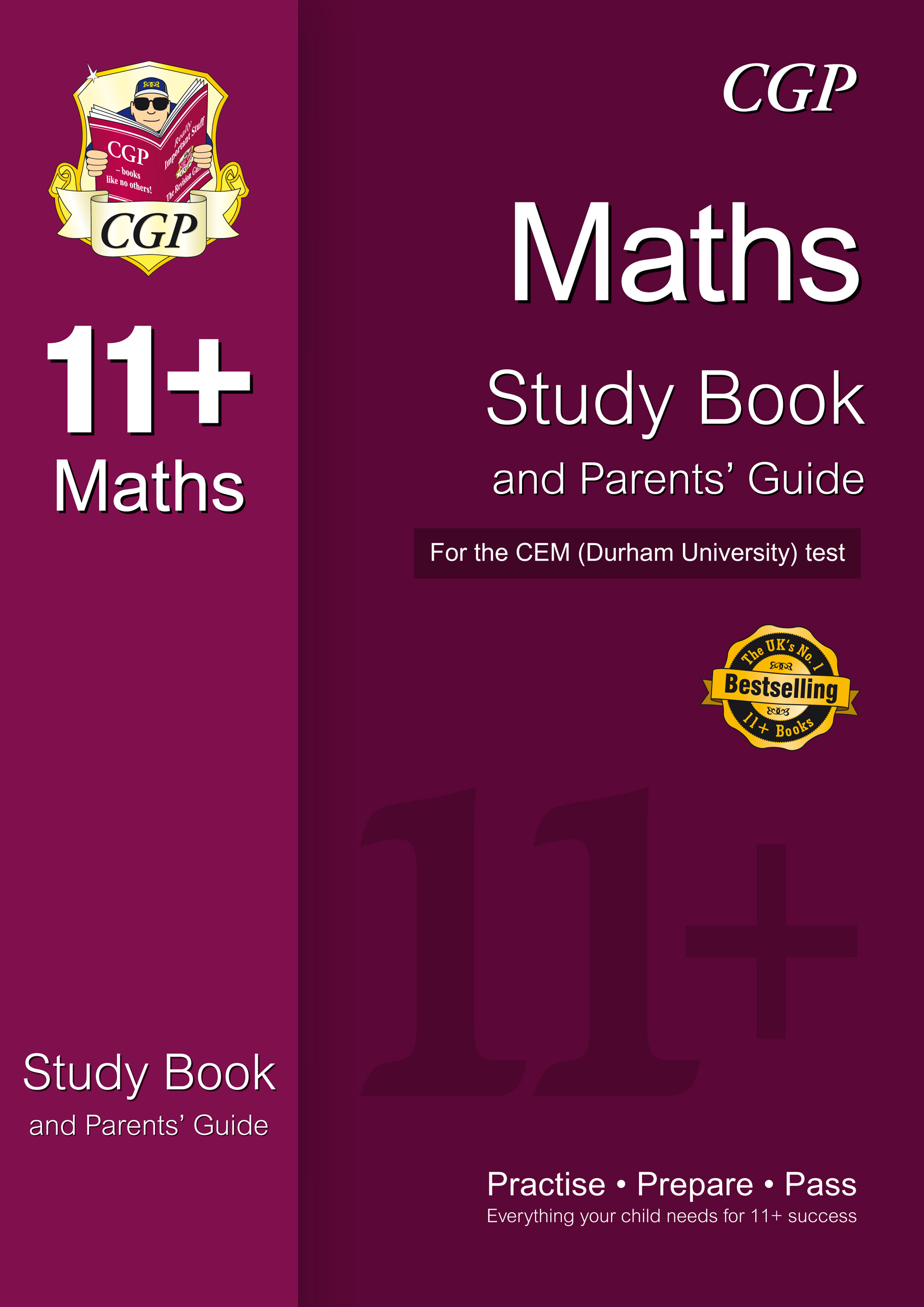 MHRDE1 - 11+ Maths Study Book and Parents' Guide for the CEM Test