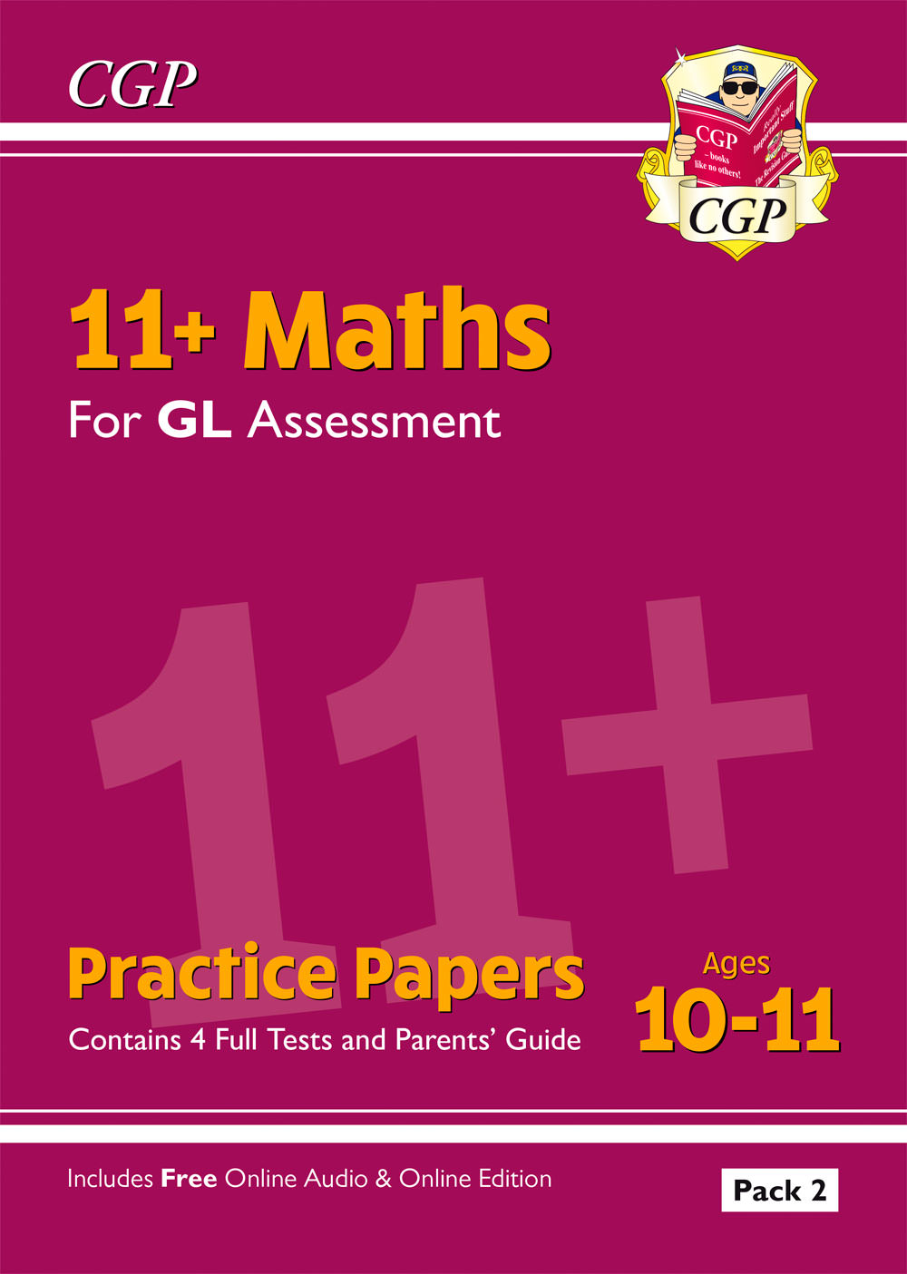 MHT2E2 - New 11+ GL Maths Practice Papers: Ages 10-11 - Pack 2 (with Parents' Guide & Online Edition