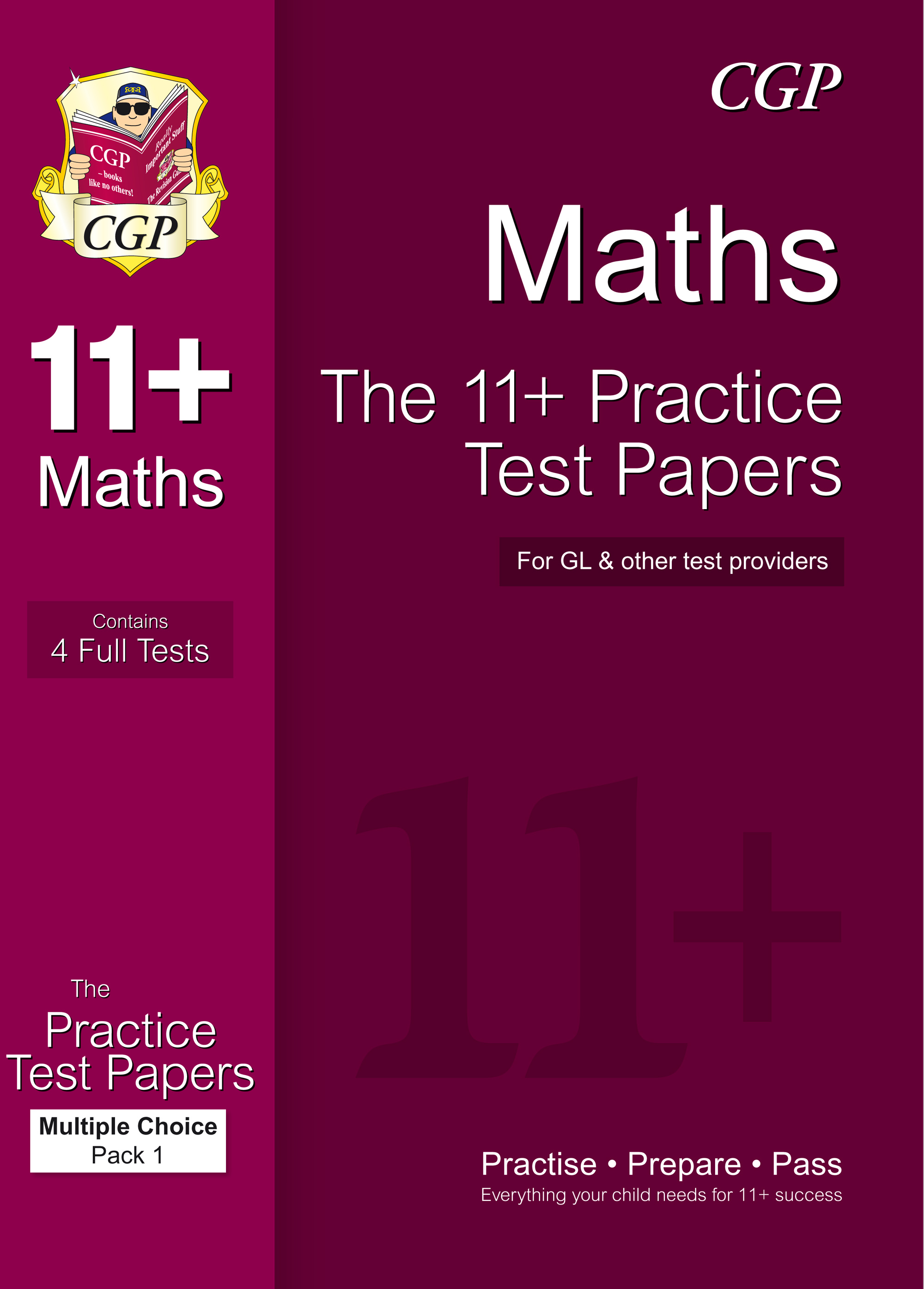 MHTE1 - 11+ Maths Practice Papers: Multiple Choice - Pack 1 (for GL & Other Test Providers)