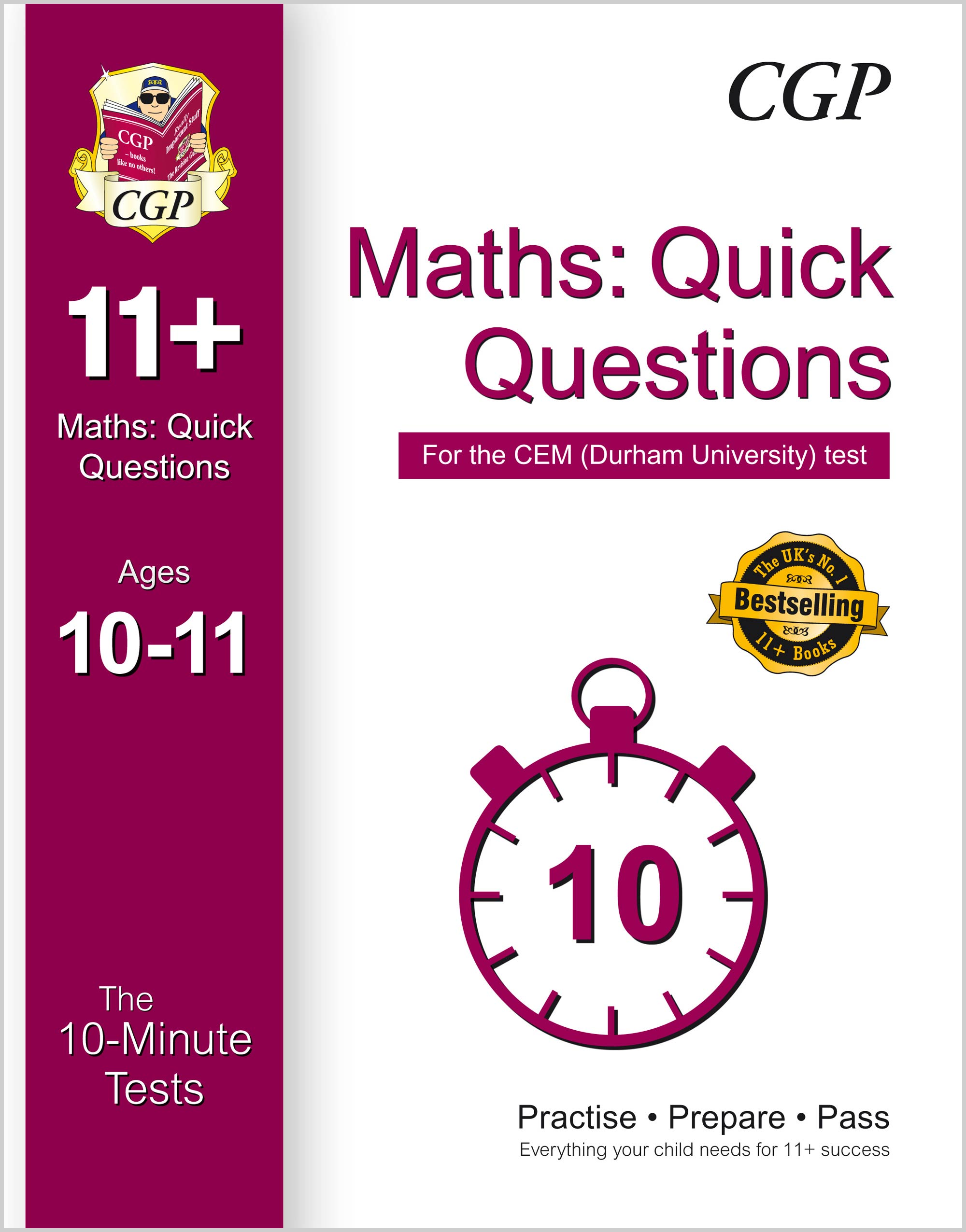 MQXPDE1 - 10-Minute Tests for 11+ Maths: Quick Questions Ages 10-11 - CEM Test