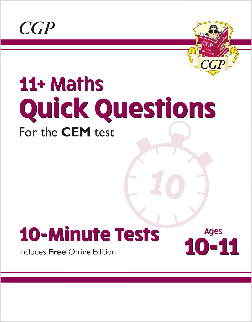 MQXPDE2 - New 11+ CEM 10-Minute Tests: Maths Quick Questions - Ages 10-11 (with Online Edition)