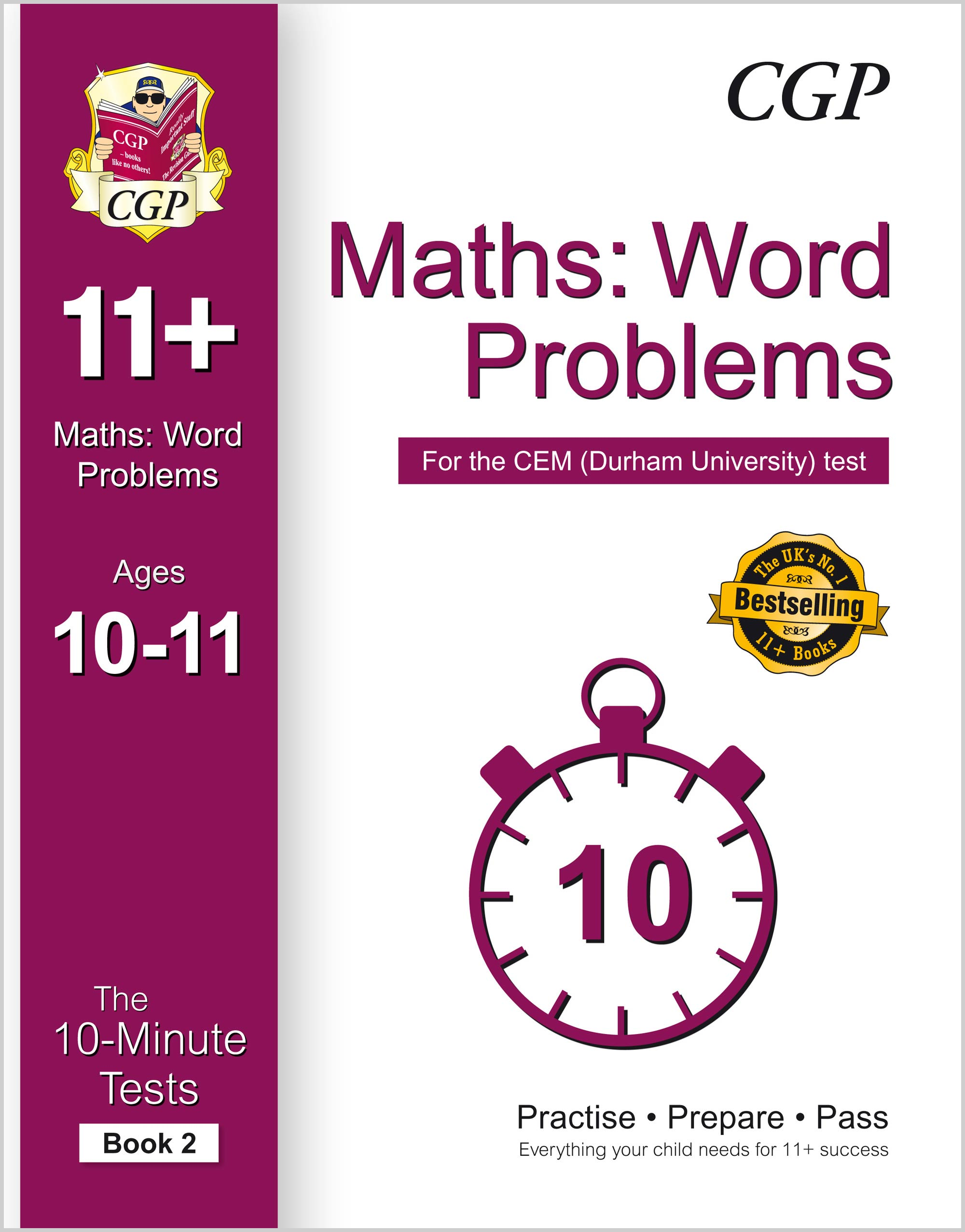 MWXPD2E1 - 10-Minute Tests for 11+ Maths: Word Problems Ages 10-11 (Book 2) - CEM Test