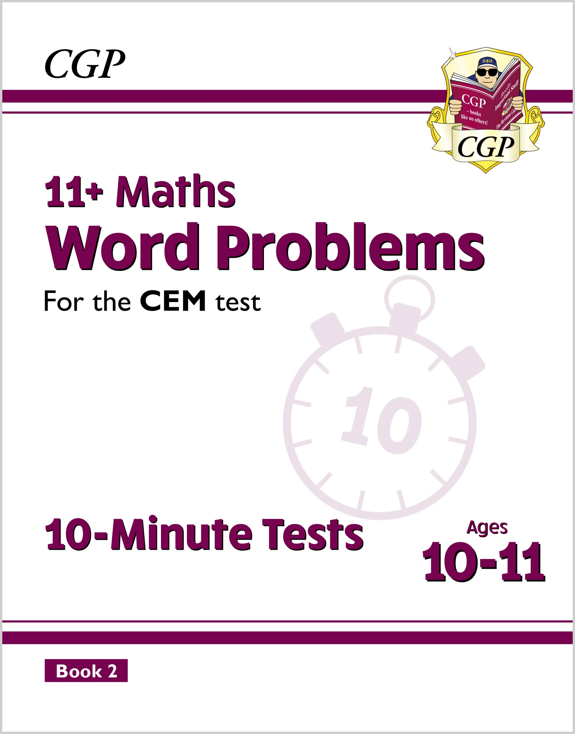 MWXPD2E2DK - New 11+ CEM 10-Minute Tests: Maths Word Problems - Ages 10-11 Book 2 (with Online Editi