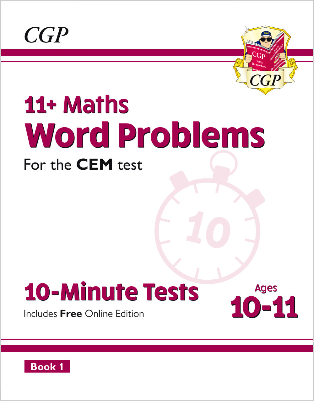 MWXPDE2 - New 11+ CEM 10-Minute Tests: Maths Word Problems - Ages 10-11 Book 1 (with Online Edition)