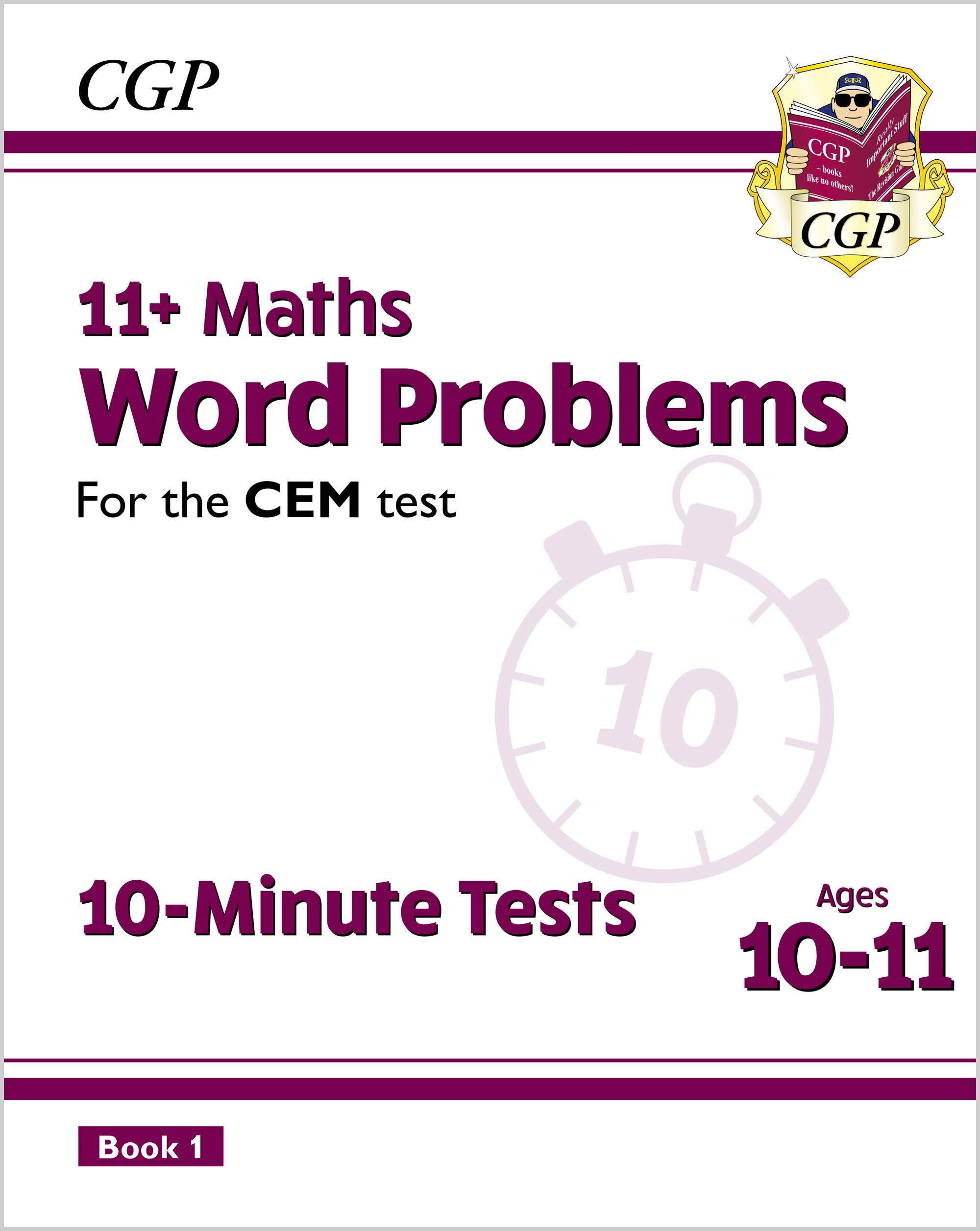 MWXPDE2DK - New 11+ CEM 10-Minute Tests: Maths Word Problems - Ages 10-11 Book 1 (with Online Editio