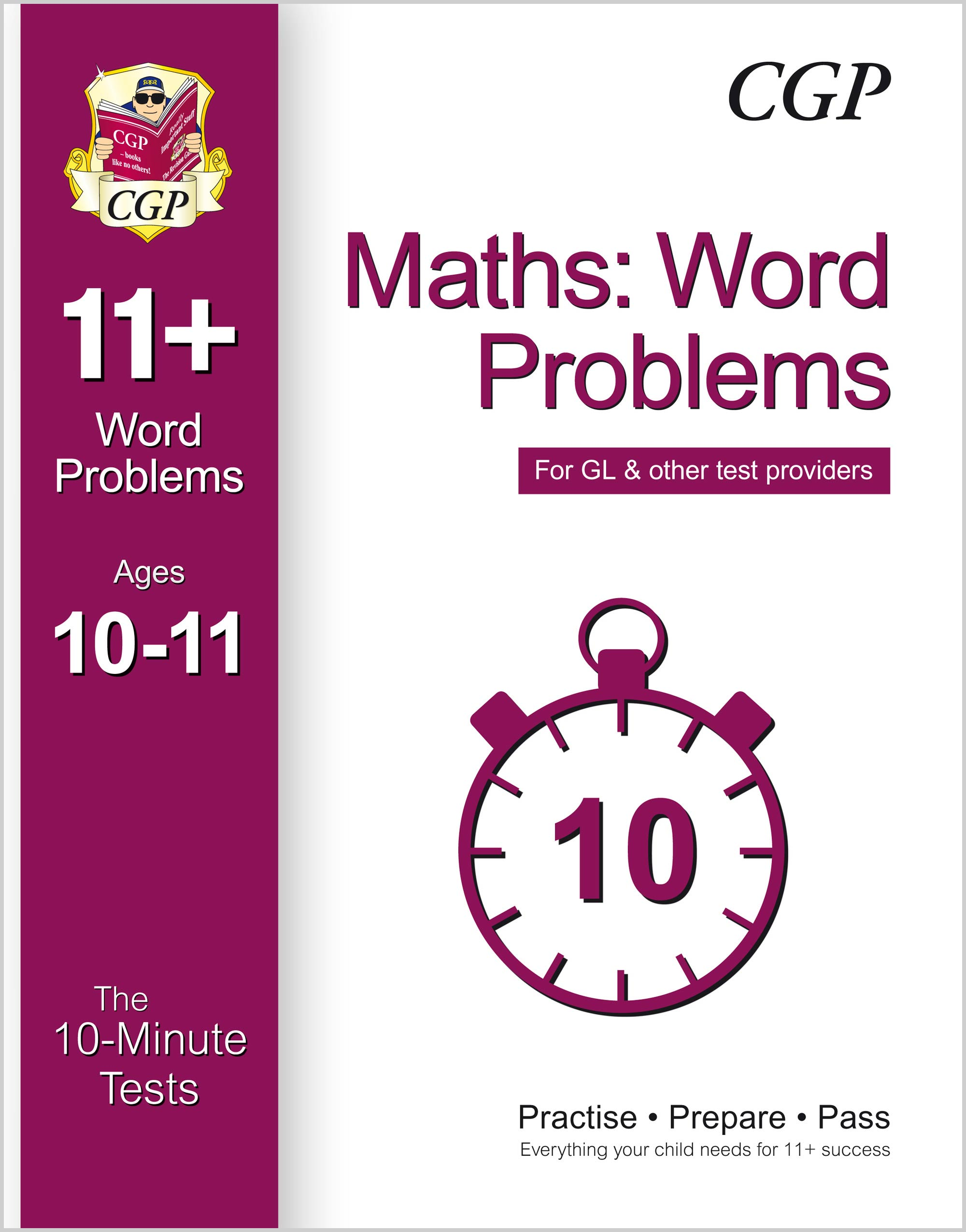 MWXPE1 - 10-Minute Tests for 11+ Maths: Word Problems Ages 10-11 - for GL & Other Test Providers