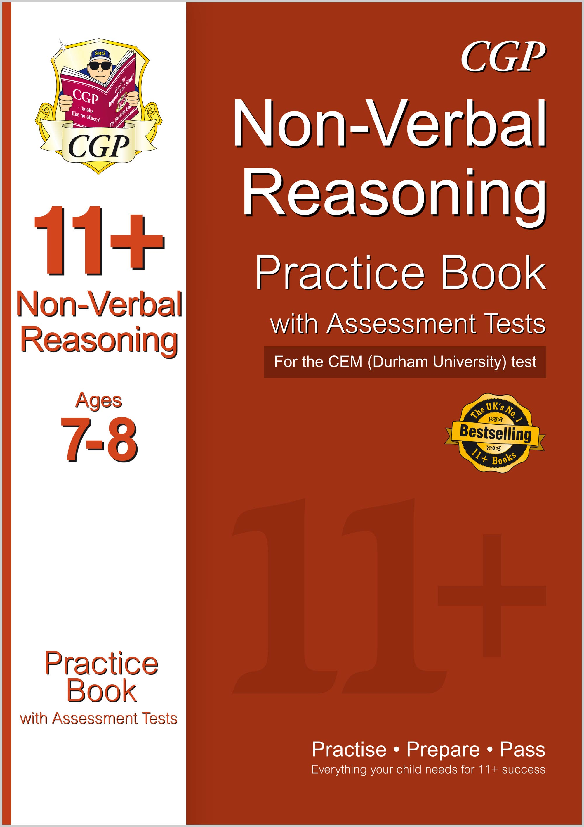 N3QDE1 - 11+ Non-Verbal Reasoning Practice Book with Assessment Tests (Ages 7-8) for the CEM Test