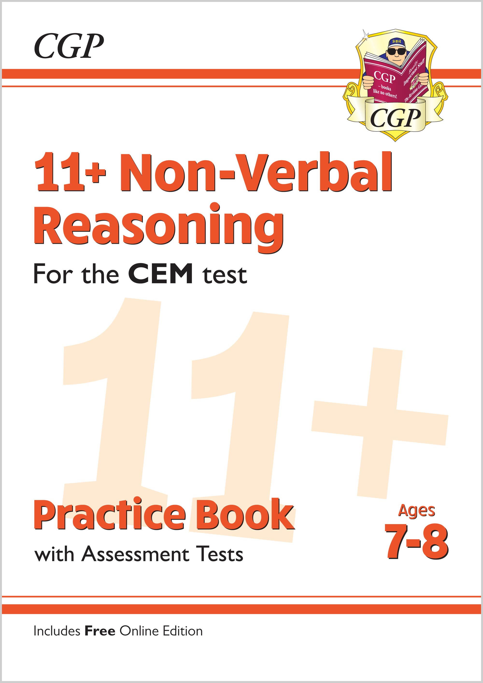 N3QDE2 - New 11+ CEM Non-Verbal Reasoning Practice Book & Assessment Tests - Ages 7-8 (with Online E