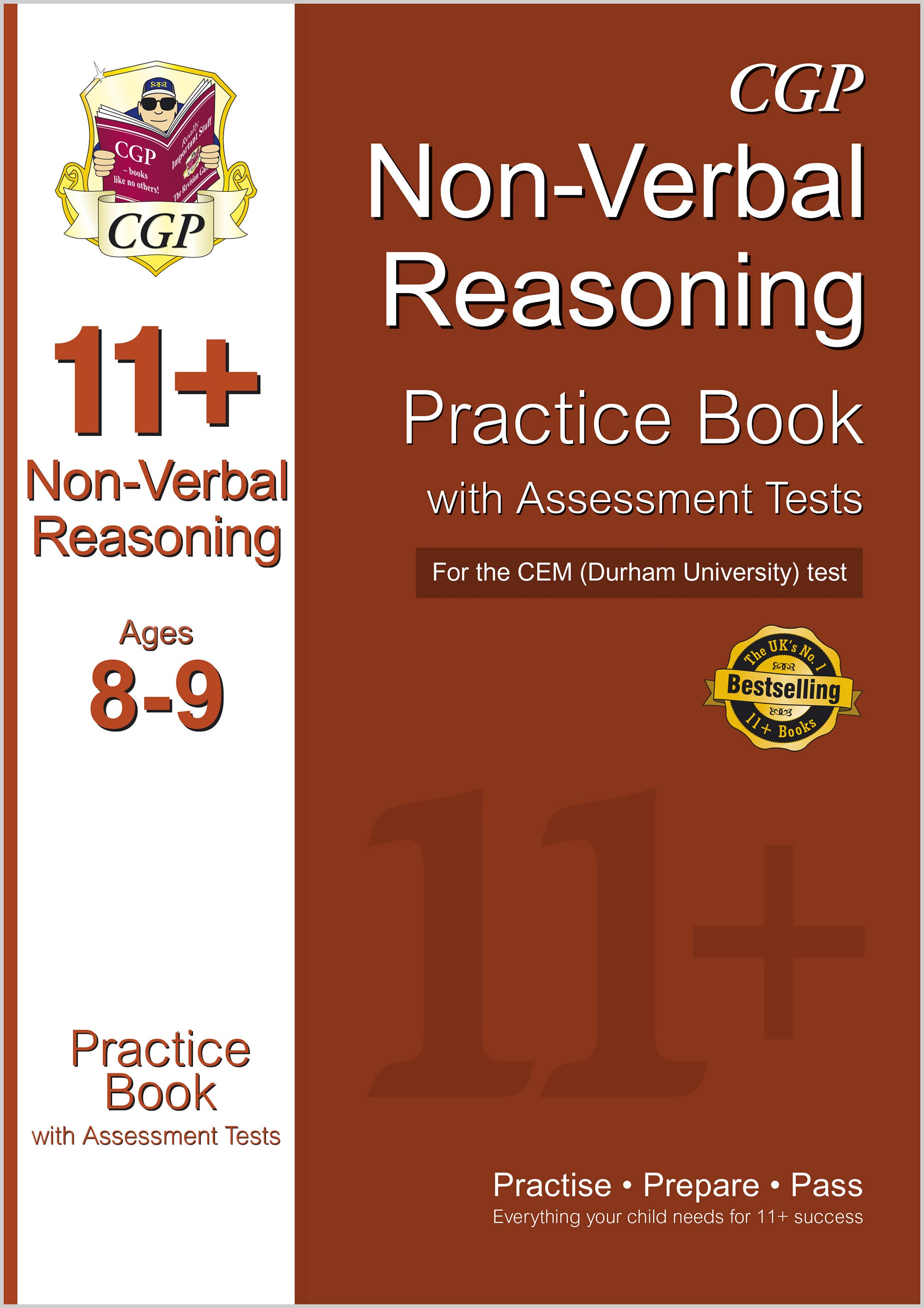 N4QDE1 - 11+ Non-Verbal Reasoning Practice Book with Assessment Tests (Ages 8-9) for the CEM Test