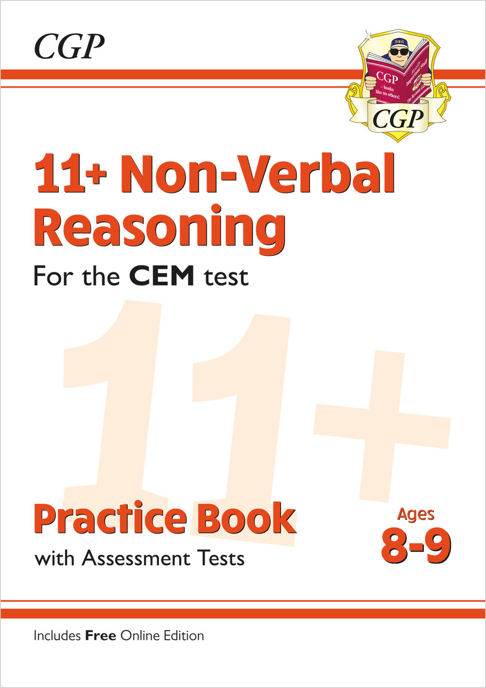 N4QDE2 - New 11+ CEM Non-Verbal Reasoning Practice Book & Assessment Tests - Ages 8-9 (with Online E