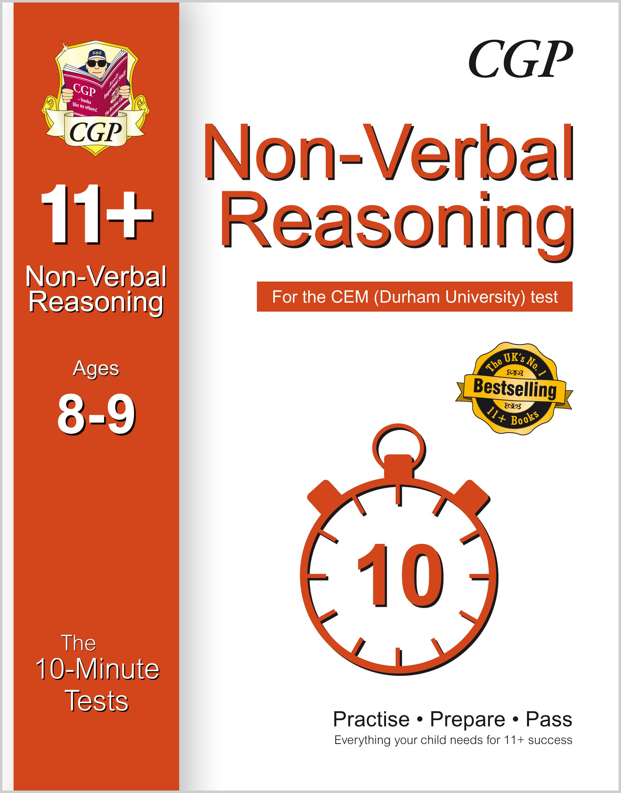 N4XPDE1 - 10-Minute Tests for 11+ Non-Verbal Reasoning Ages 8-9 - CEM Test