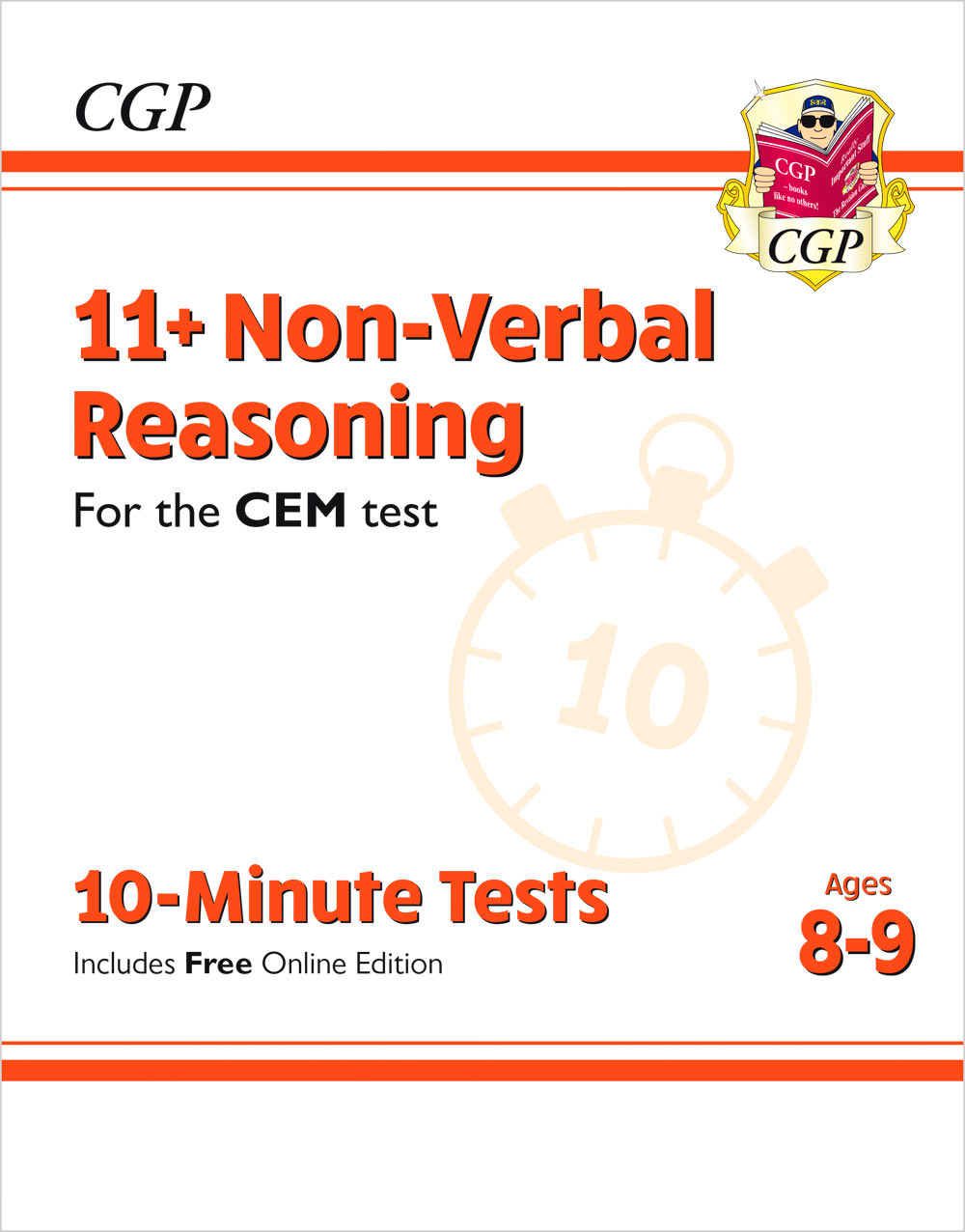 N4XPDE2 - New 11+ CEM 10-Minute Tests: Non-Verbal Reasoning - Ages 8-9 (with Online Edition)