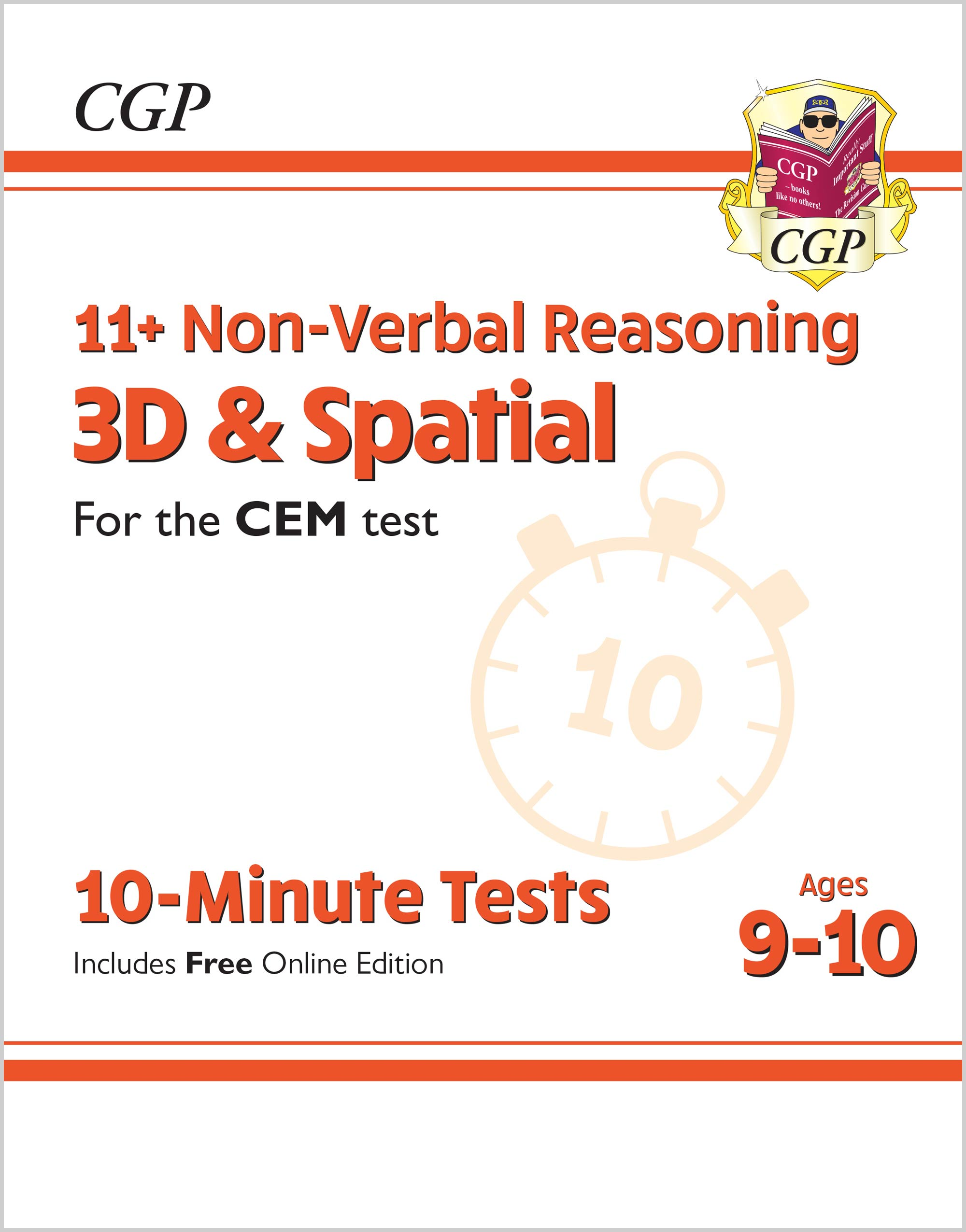 N5DXPDE1 - New 11+ CEM 10-Minute Tests: Non-Verbal Reasoning 3D & Spatial - Ages 9-10 (with Online E