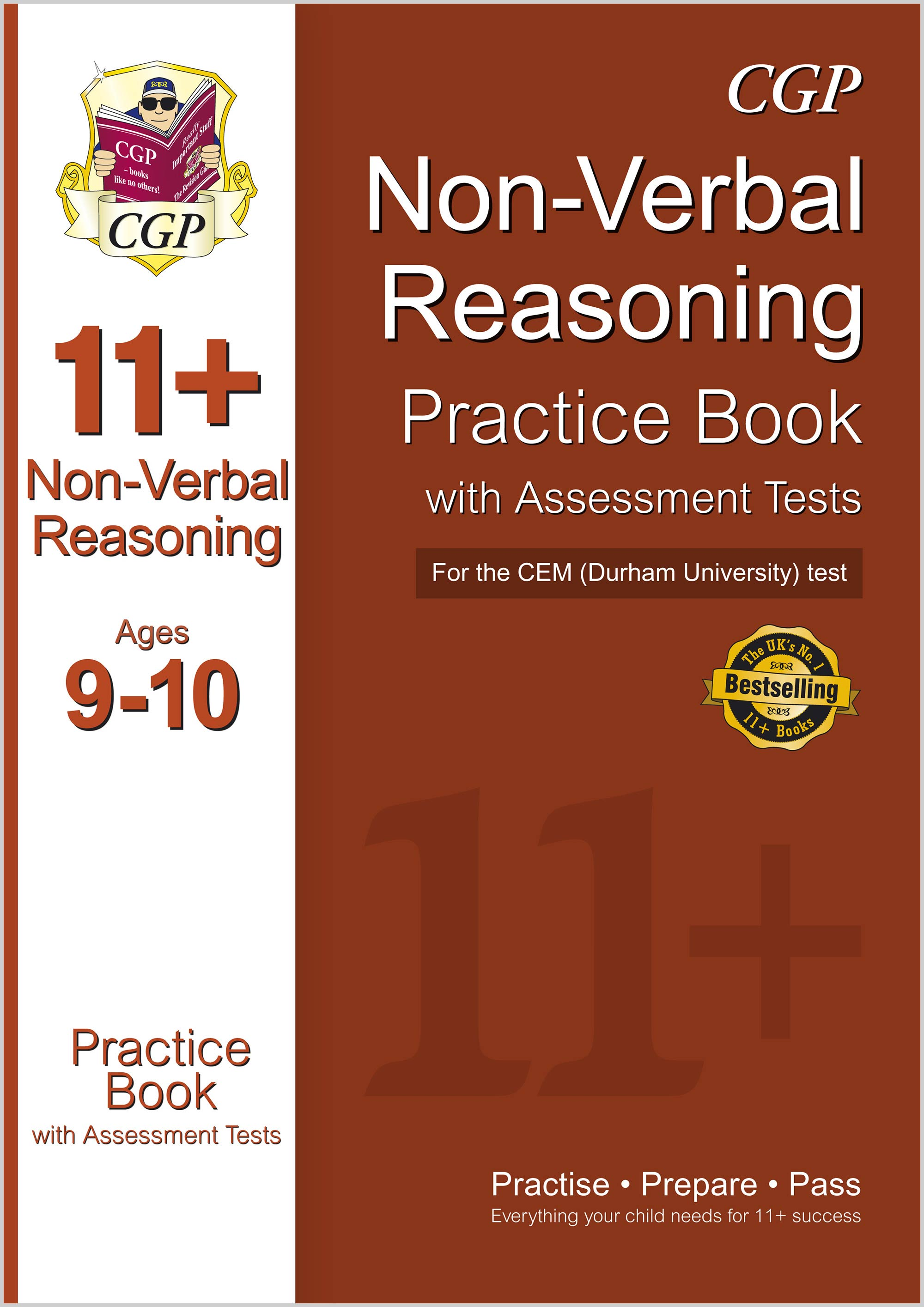 N5QDE1 - 11+ Non-Verbal Reasoning Practice Book with Assessment Tests (Ages 9-10) for the CEM Test