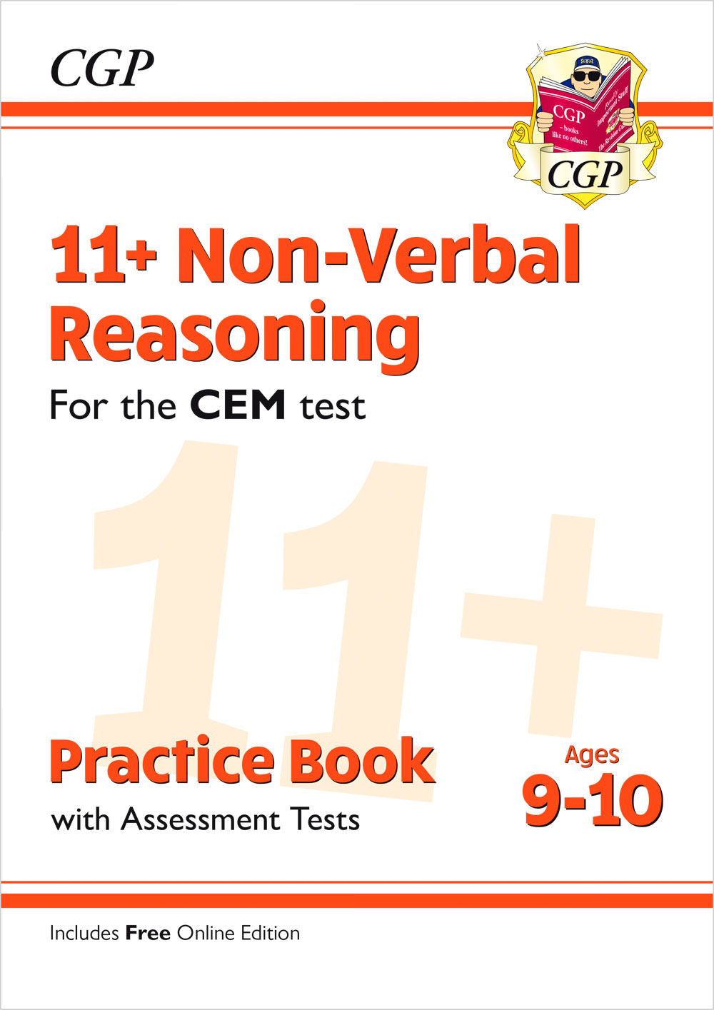 N5QDE2 - New 11+ CEM Non-Verbal Reasoning Practice Book & Assessment Tests - Ages 9-10 (with Online