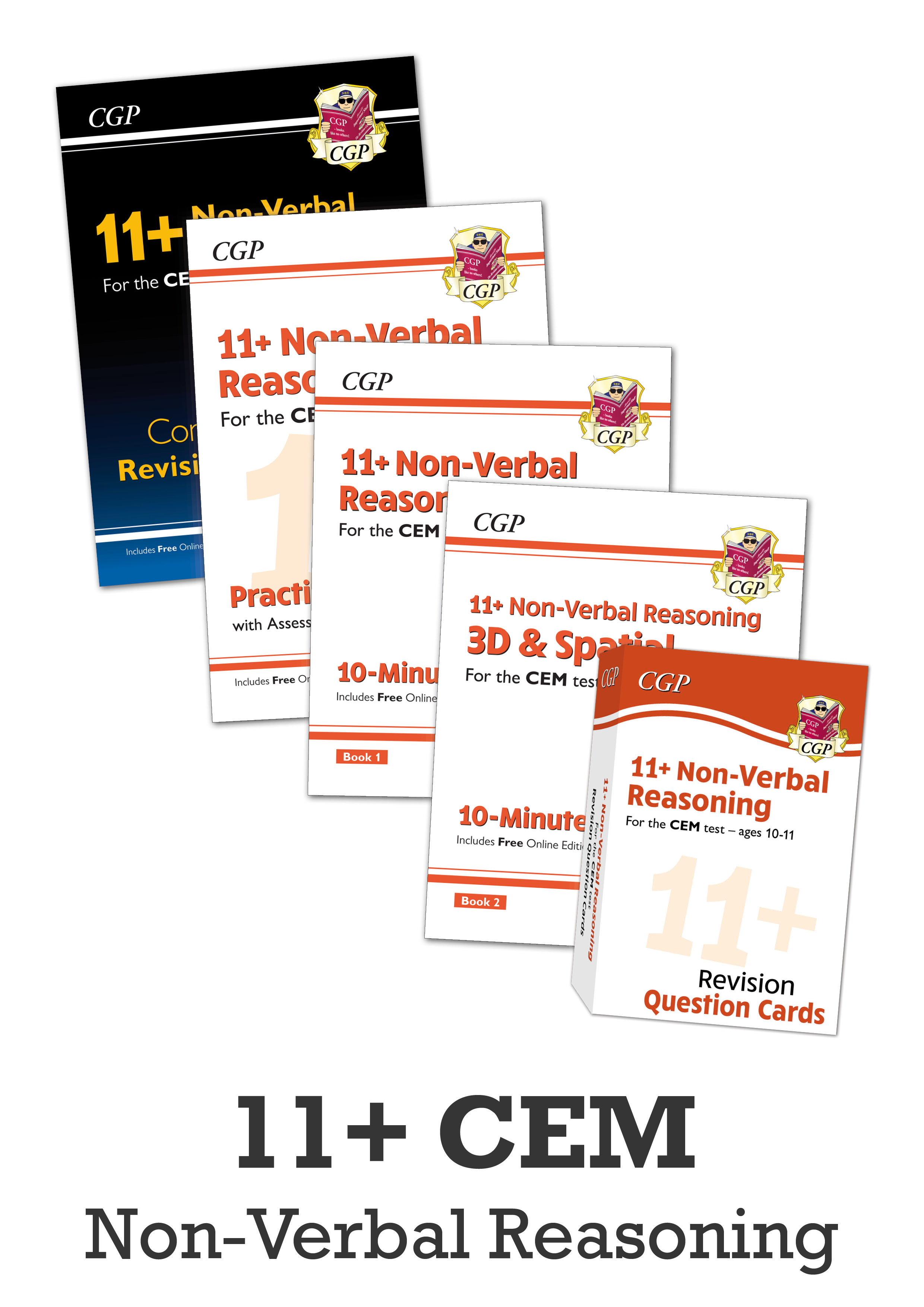 N6BDE1 - 11+ CEM Non-Verbal Reasoning Study & Practice Bundle - for Ages 10-11