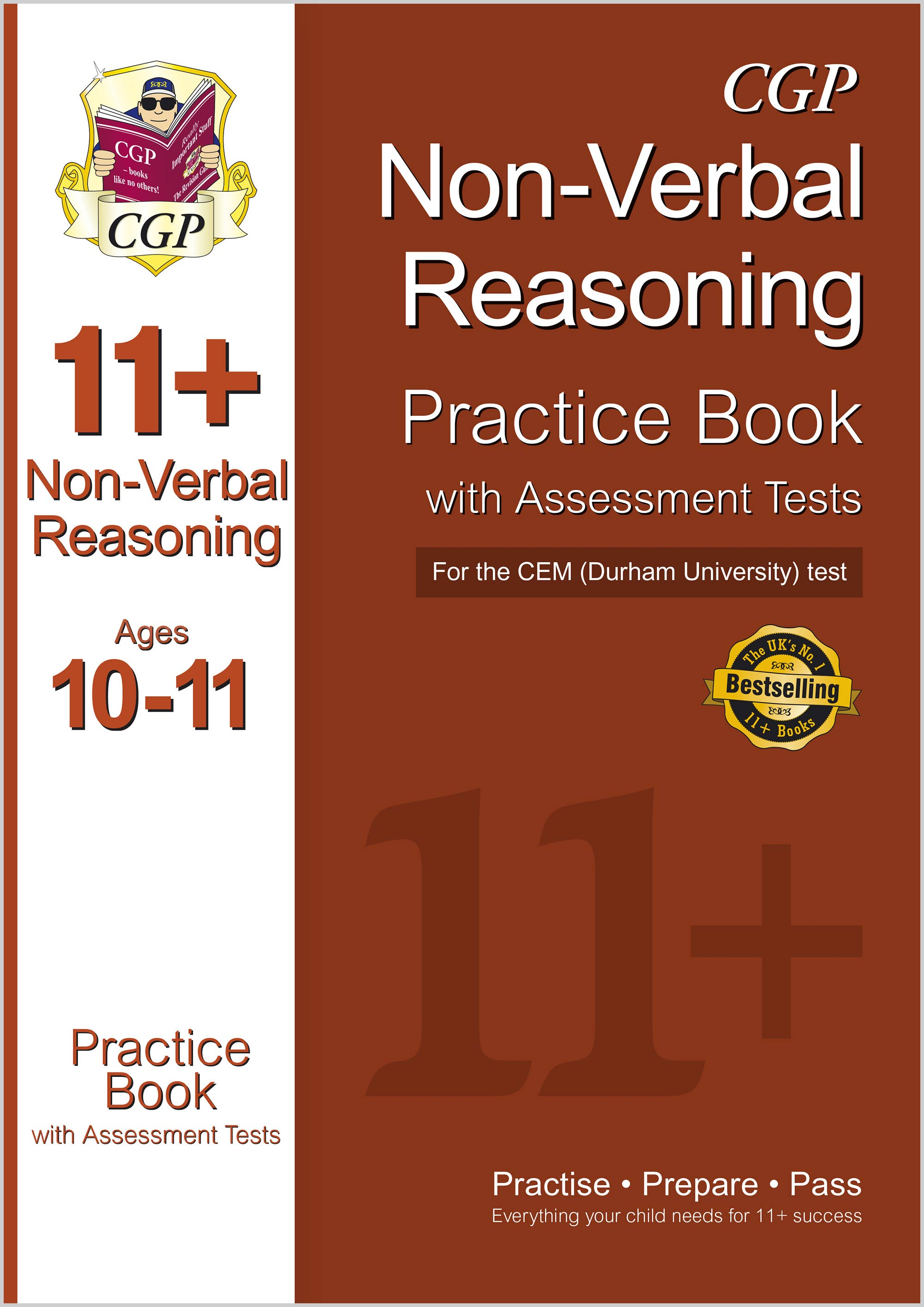 N6QDE1DK - 11+ Non-Verbal Reasoning Practice Book with Assessment Tests (Ages 10-11) for the CEM Tes
