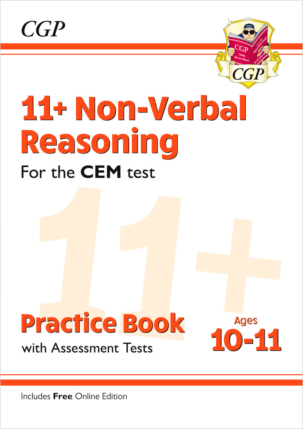 N6QDE2 - New 11+ CEM Non-Verbal Reasoning Practice Book & Assessment Tests - Ages 10-11 (with Online