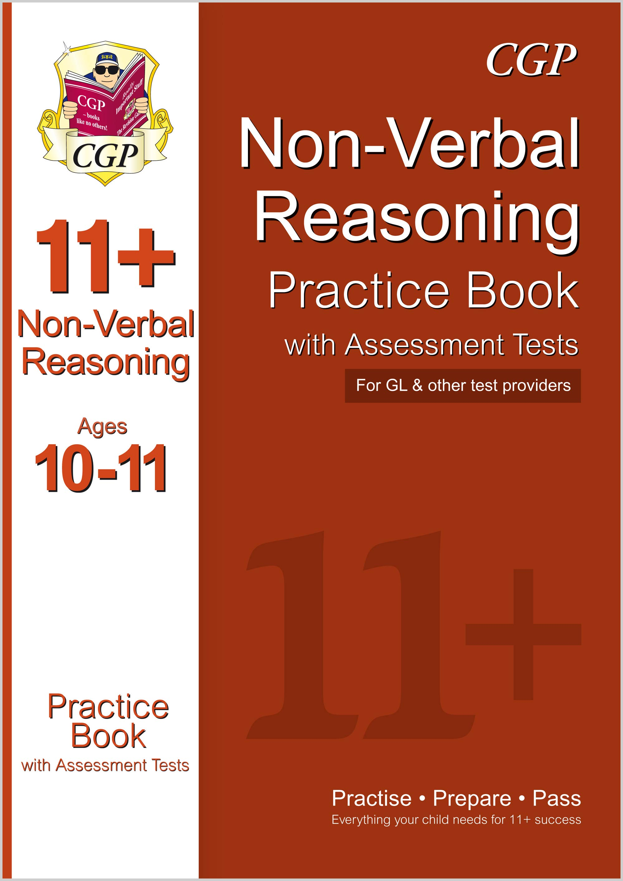 N6QE1 - 11+ Non-Verbal Reasoning Practice Book with Assessment Tests Ages 10-11 (GL & Other Test Pro