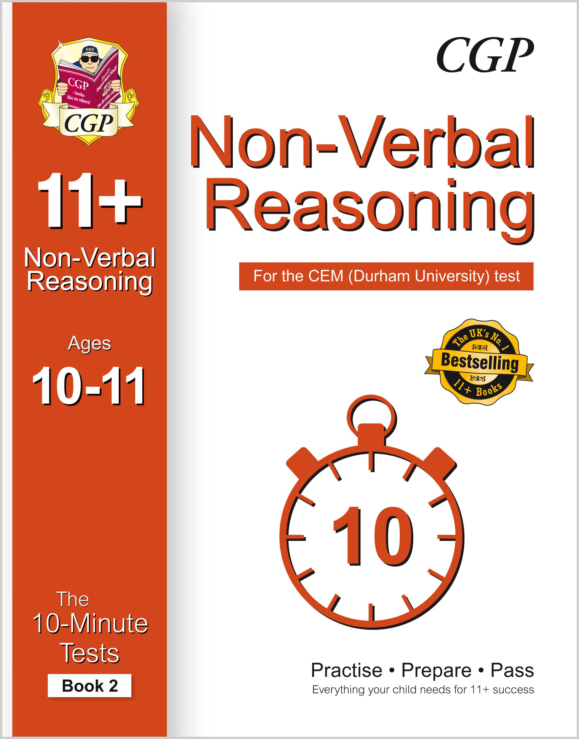 N6XPD2E1 - 10-Minute Tests for 11+ Non-Verbal Reasoning Ages 10-11 (Book 2) - CEM Test