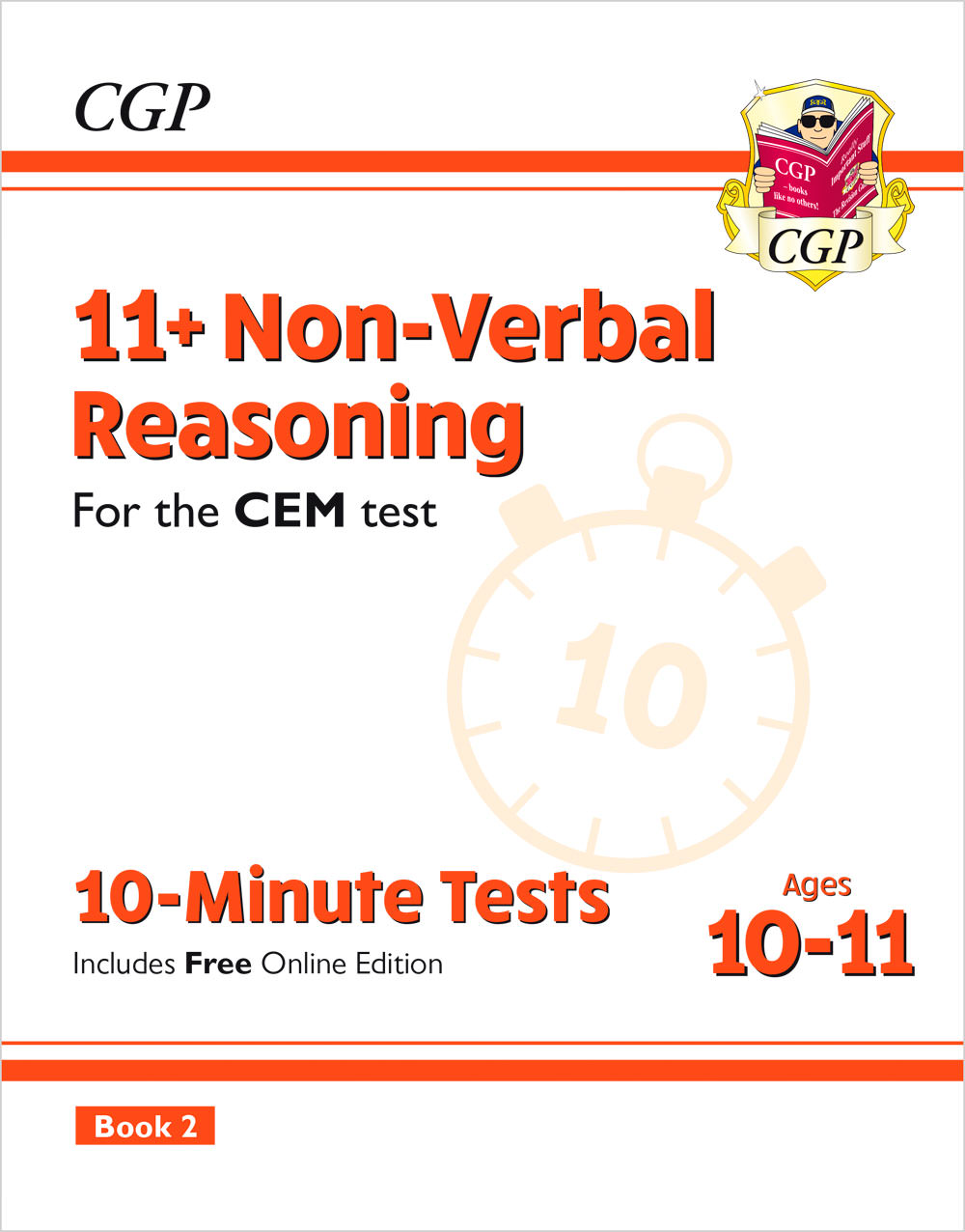 N6XPD2E2 - New 11+ CEM 10-Minute Tests: Non-Verbal Reasoning - Ages 10-11 Book 2 (with Online Editio