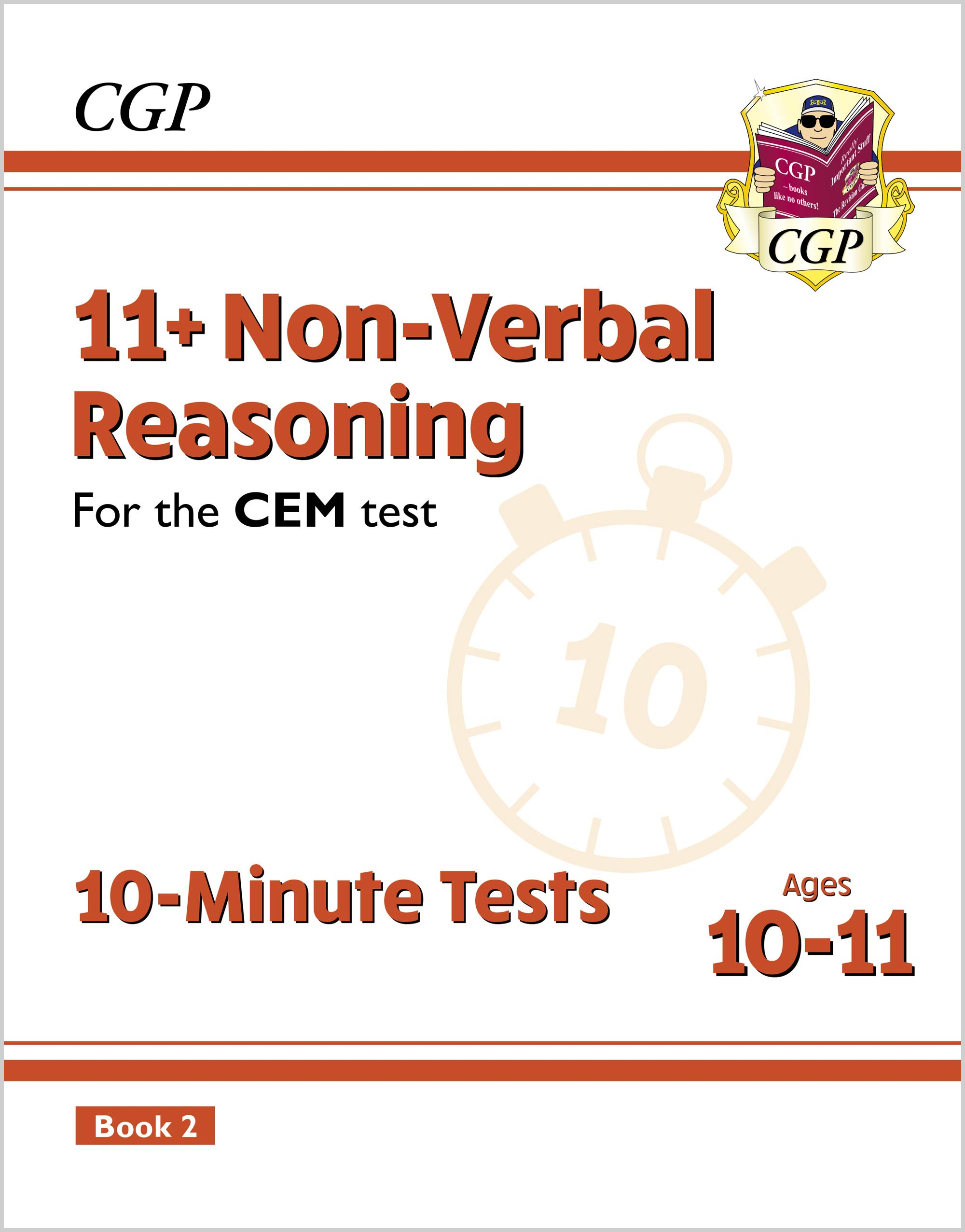 N6XPD2E2DK - New 11+ CEM 10-Minute Tests: Non-Verbal Reasoning - Ages 10-11 Book 2 (with Online Edit
