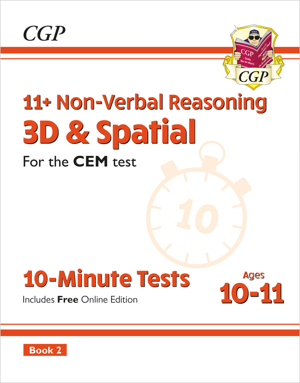 NDXPD2E2 - New 11+ CEM 10-Minute Tests: Non-Verbal Reasoning 3D & Spatial - Ages 10-11 Book 2 (with