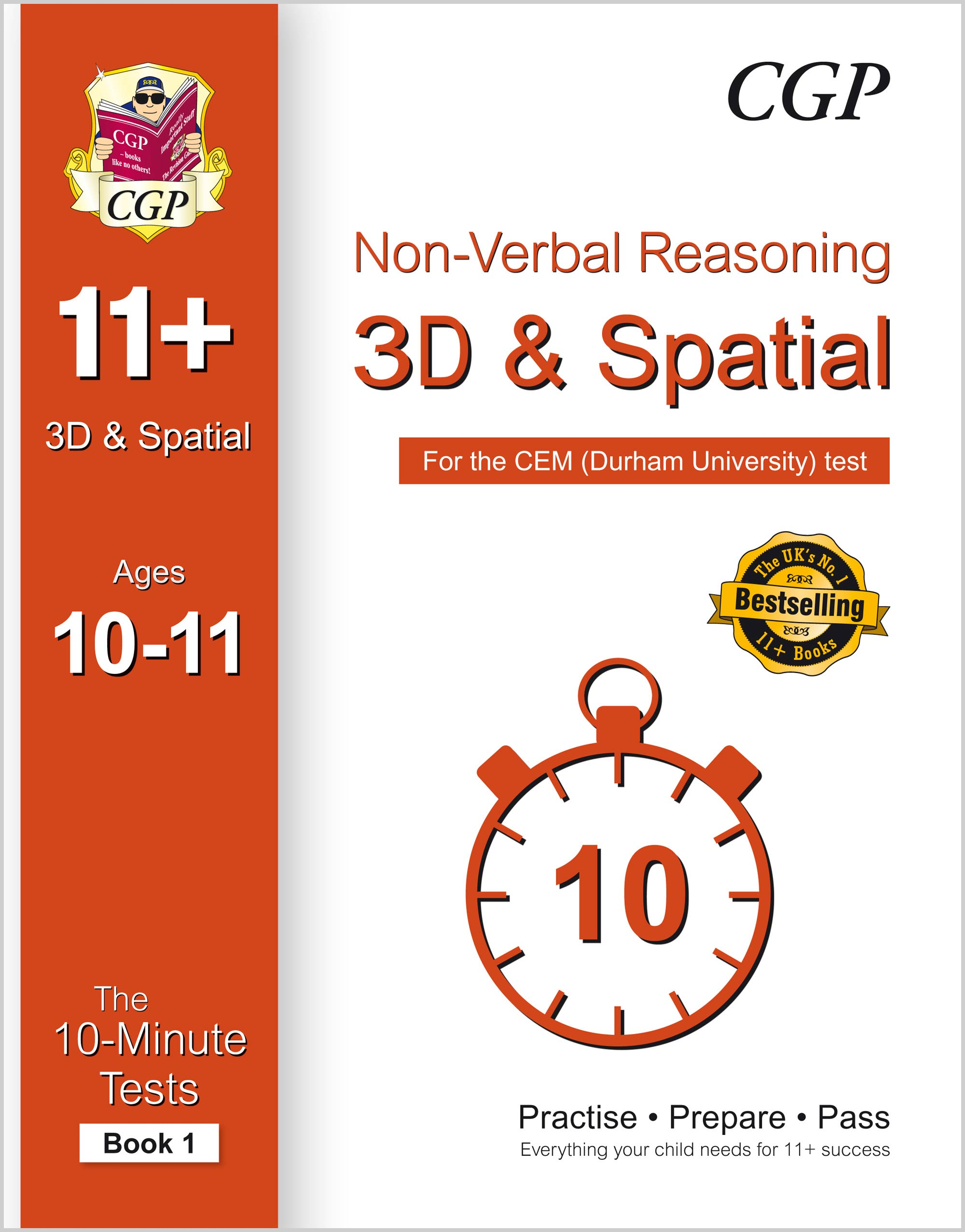 NDXPDE1 - 10-Minute Tests for 11+ Non-Verbal Reasoning: 3D and Spatial Ages 10-11 (Book 1) - CEM Tes