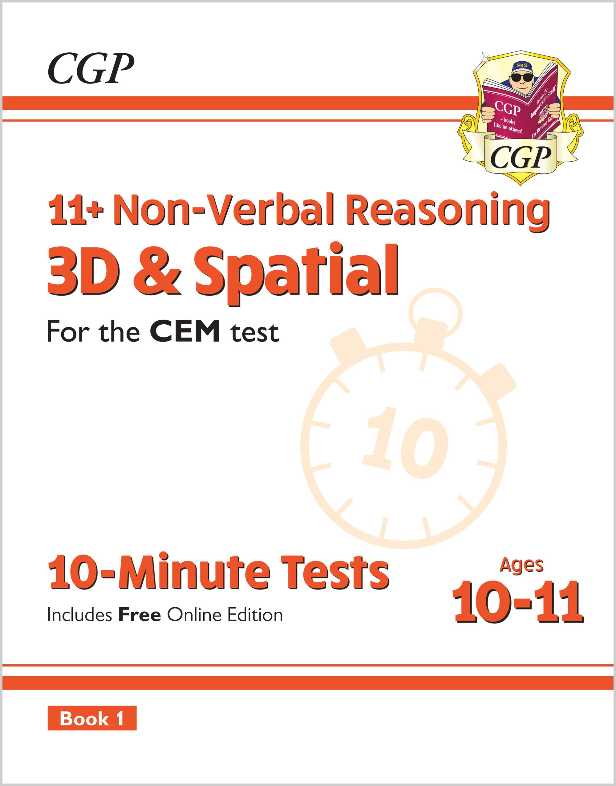 NDXPDE2 - 11+ CEM 10-Minute Tests: Non-Verbal Reasoning 3D & Spatial - Ages 10-11 Book 1 (with Onlin