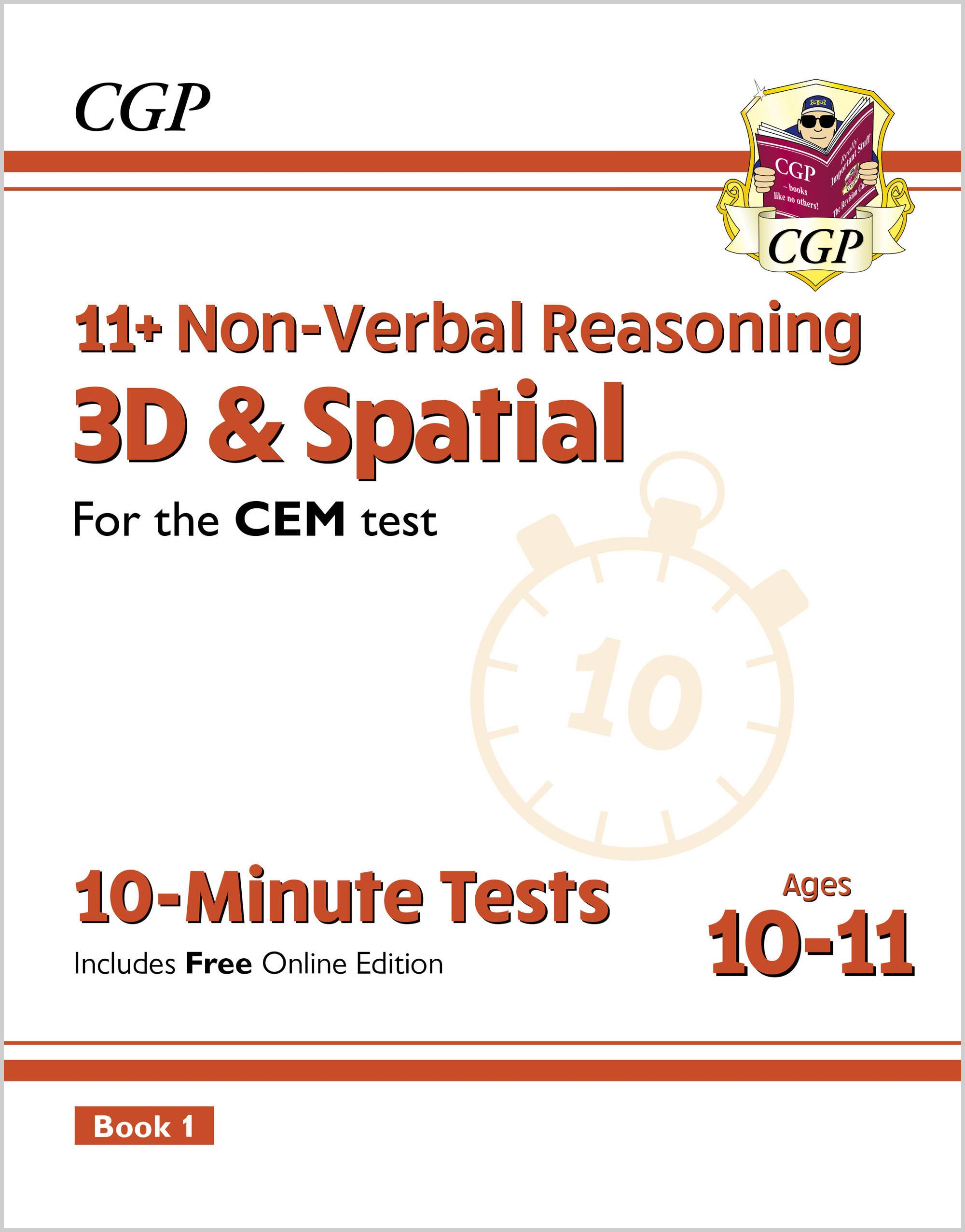 NDXPDE2DK - New 11+ CEM 10-Minute Tests: Non-Verbal Reasoning 3D & Spatial - Ages 10-11 Book 1