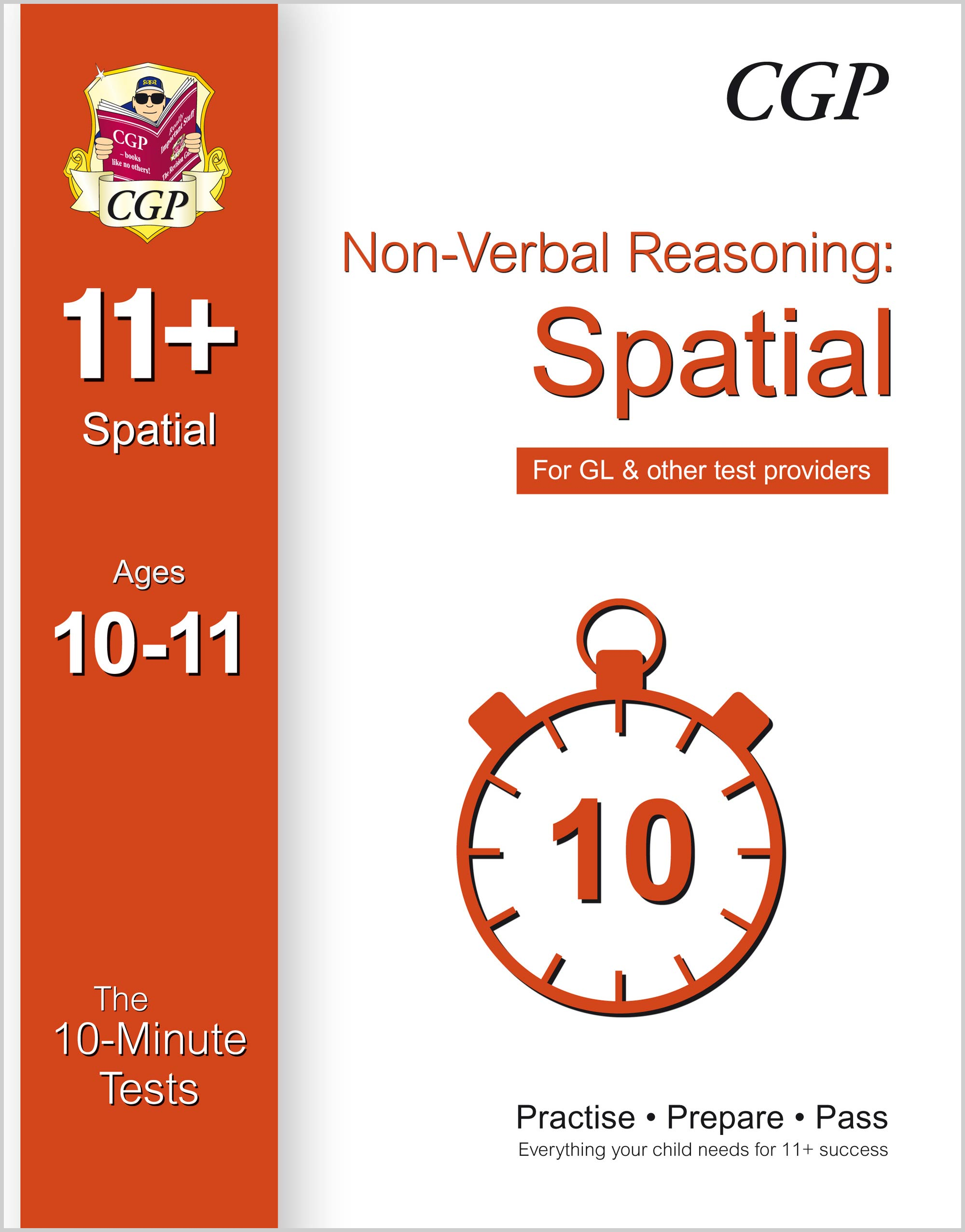 NDXPE1 - 10-Minute Tests for 11+ Non-Verbal Reasoning: Spatial Ages 10-11 - for GL & Other Test Prov