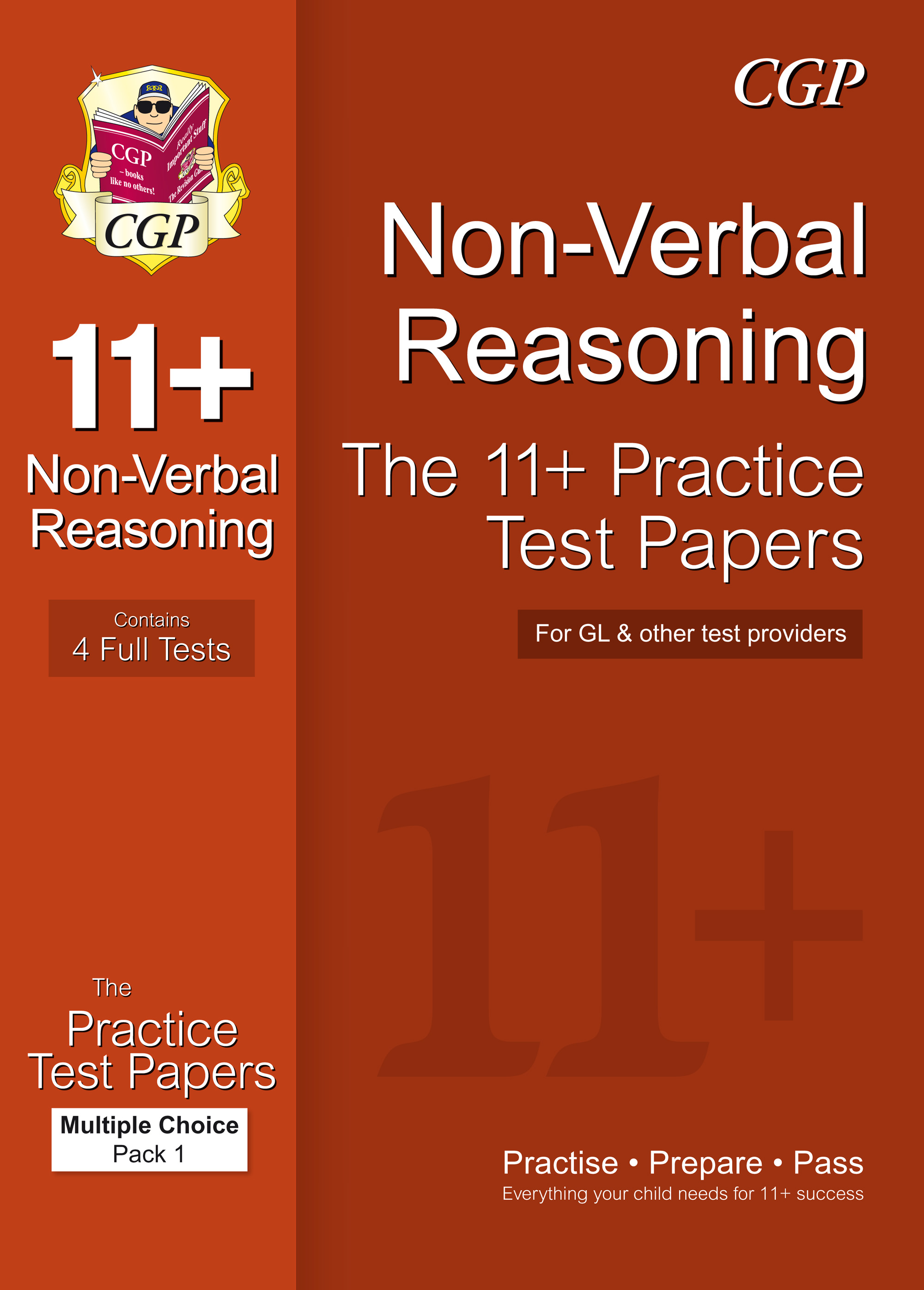 NHTE1 - 11+ Non-Verbal Reasoning Practice Papers: Multiple Choice - Pack 1 (GL & Other Test Provider