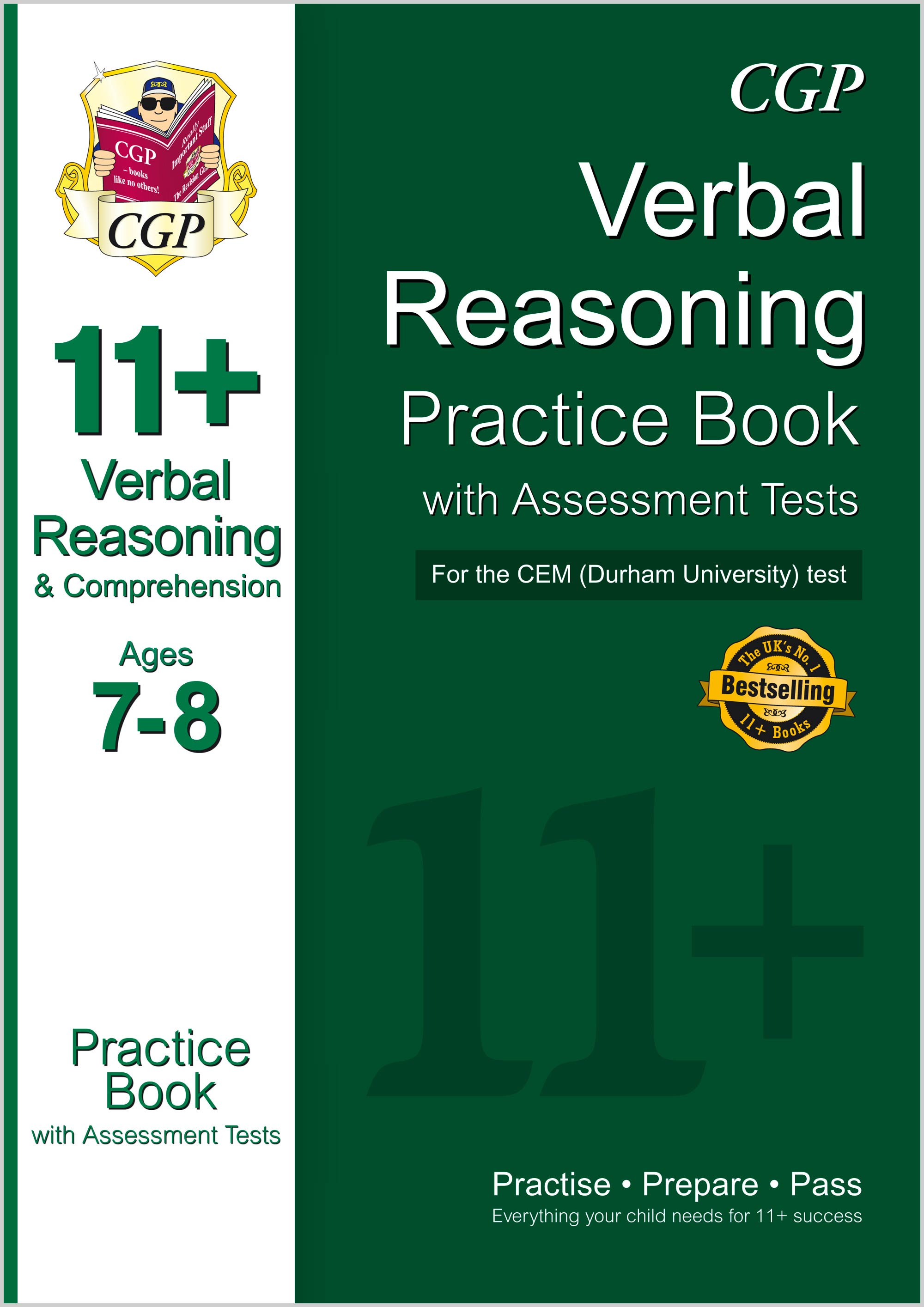 V3QDE1 - 11+ Verbal Reasoning Practice Book with Assessment Tests (Ages 7-8) for the CEM Test