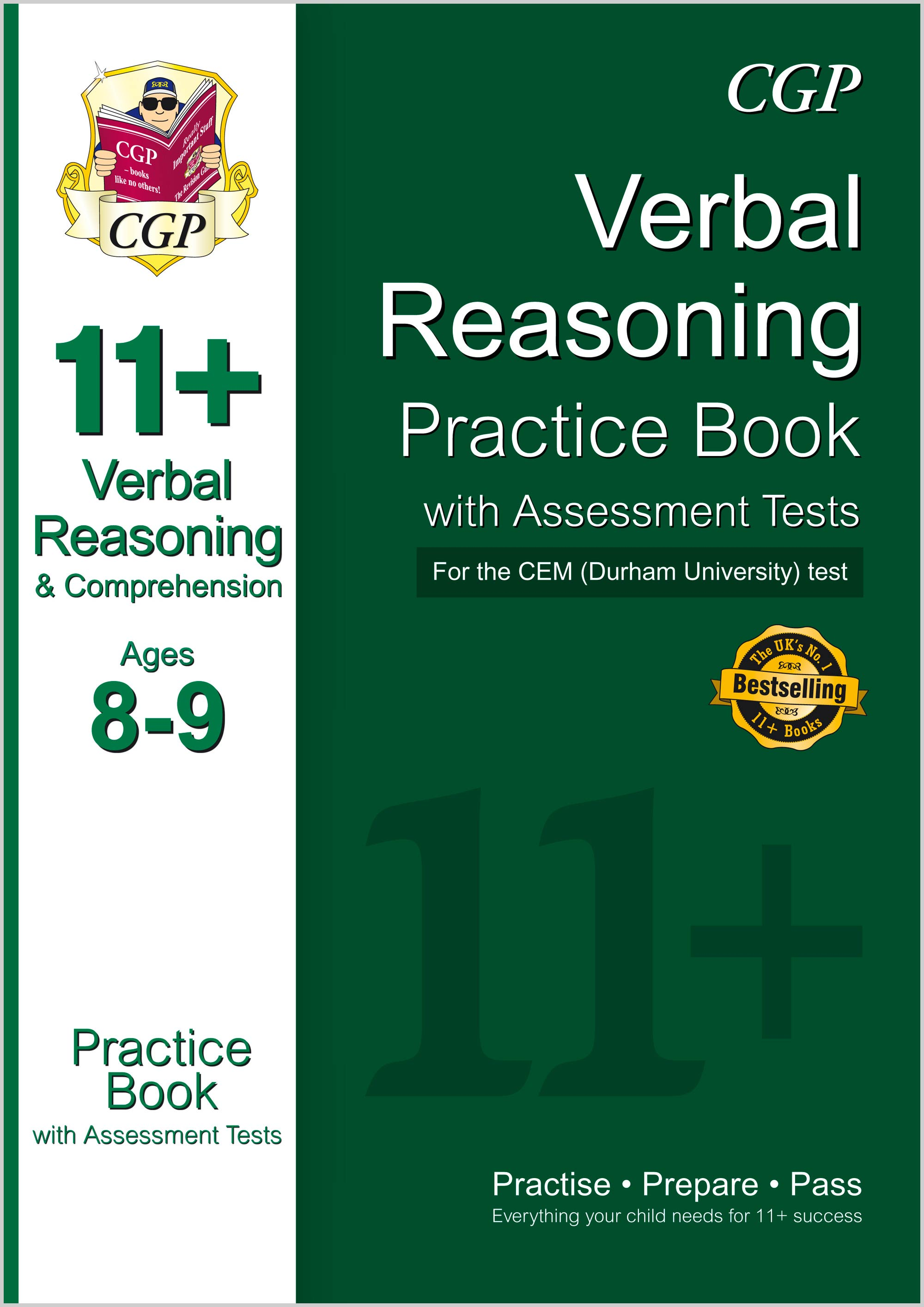 V4QDE1 - 11+ Verbal Reasoning Practice Book with Assessment Tests (Ages 8-9) for the CEM Test