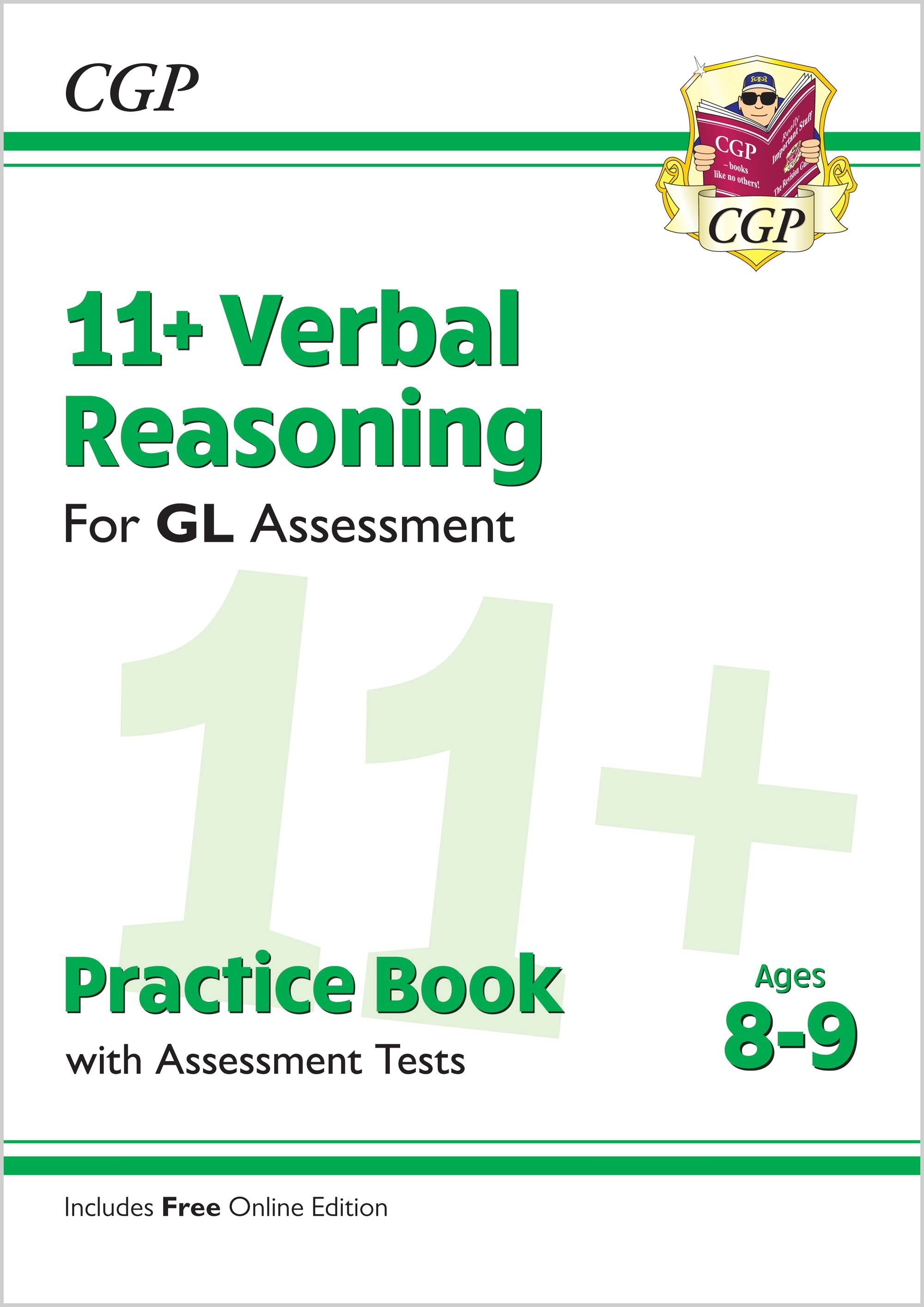 V4QE2 - New 11+ GL Verbal Reasoning Practice Book & Assessment Tests - Ages 8-9 (with Online Edition