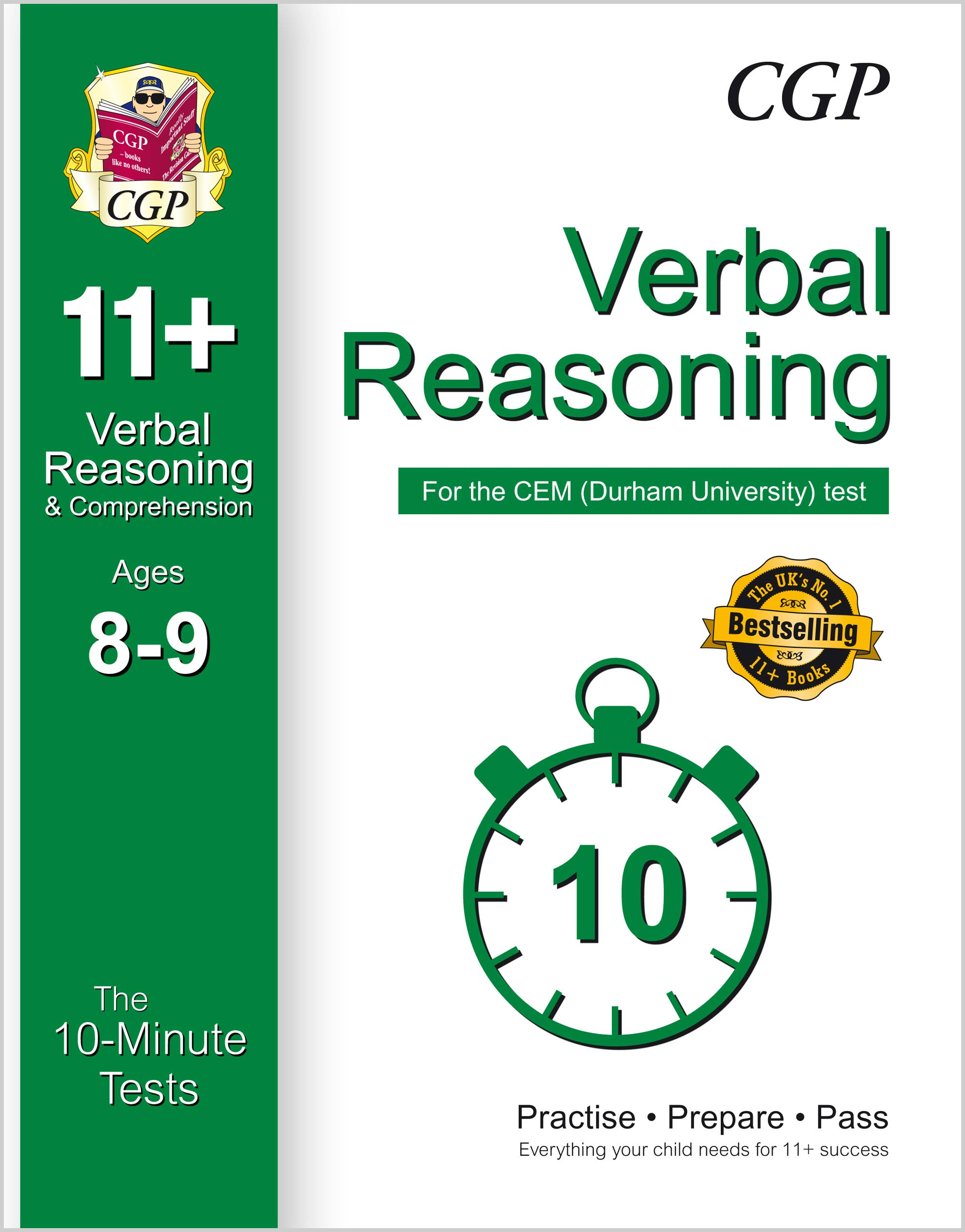 V4XPDE1 - 10-Minute Tests for 11+ Verbal Reasoning Ages 8-9 - CEM Test