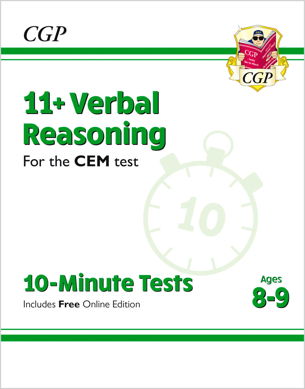 V4XPDE2 - New 11+ CEM 10-Minute Tests: Verbal Reasoning - Ages 8-9 (with Online Edition)
