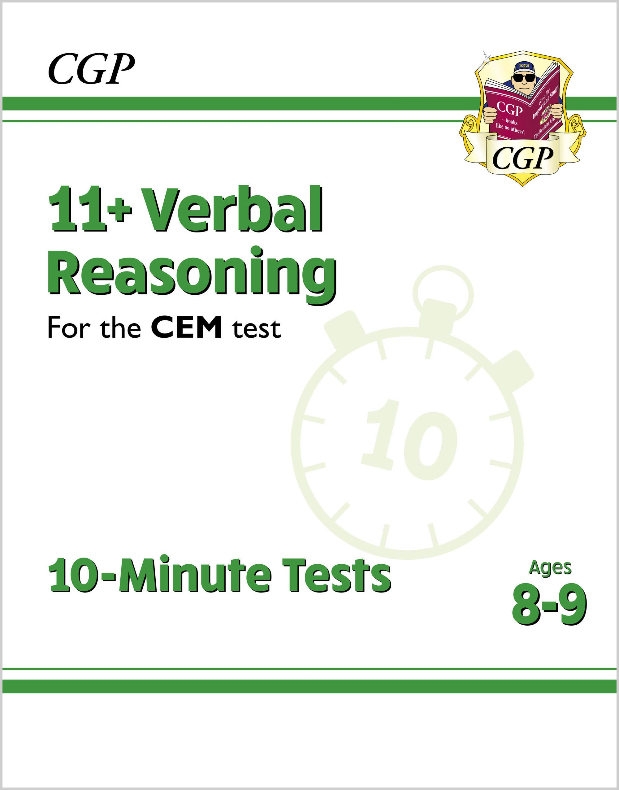 V4XPDE2DK - New 11+ CEM 10-Minute Tests: Verbal Reasoning - Ages 8-9