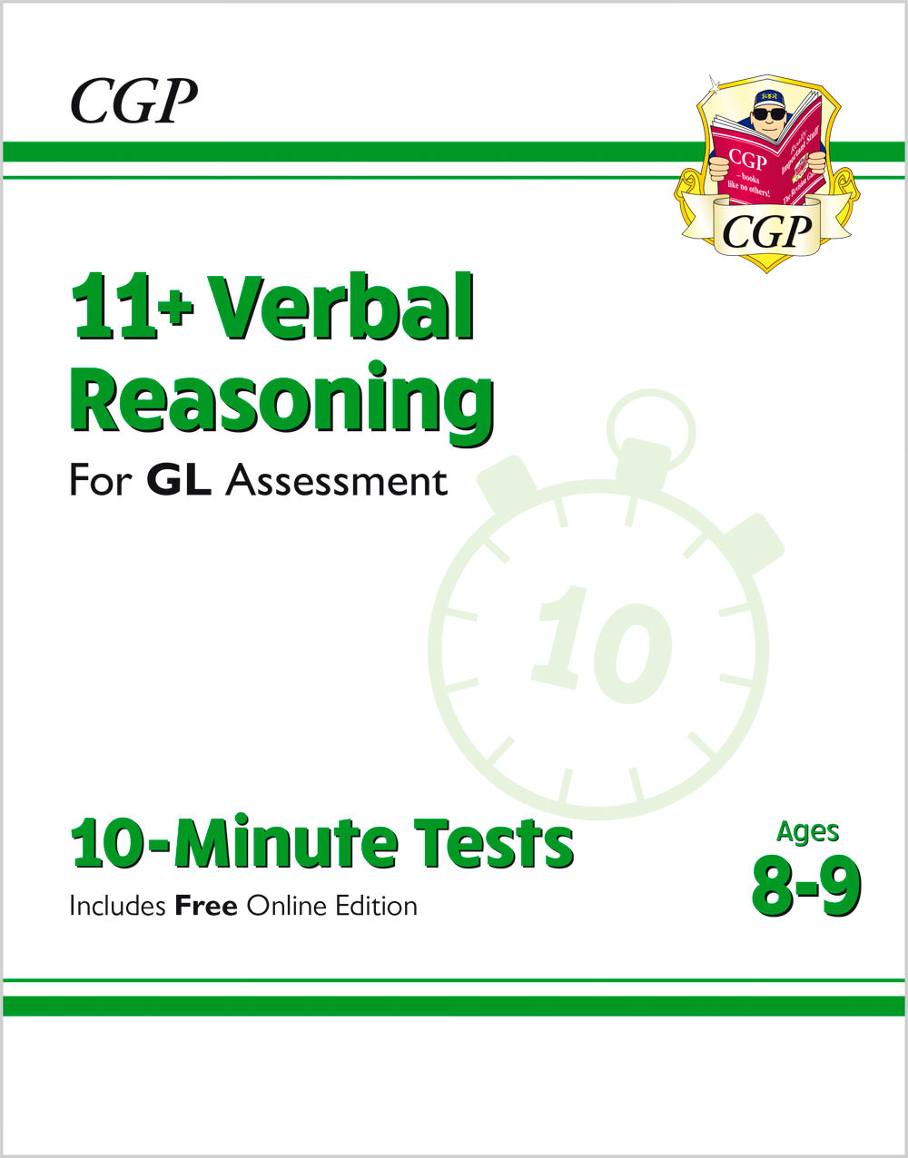 V4XPE1 - New 11+ GL 10-Minute Tests: Verbal Reasoning - Ages 8-9 (with Online Edition)