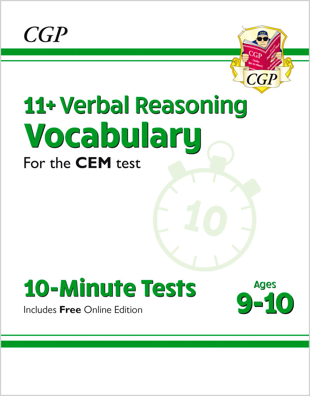 V5VXPDE1 - New 11+ CEM 10-Minute Tests: Verbal Reasoning Vocabulary - Ages 9-10 (with Online Edition