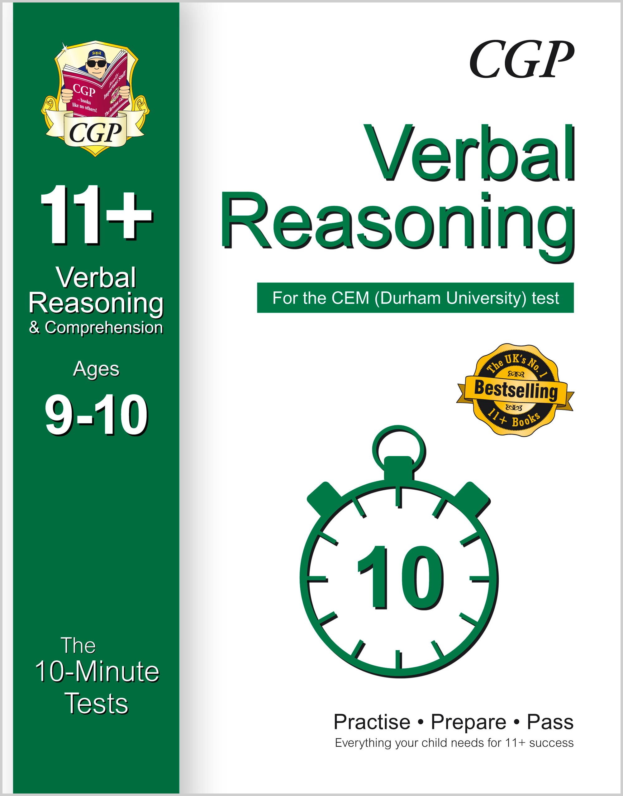 V5XPDE1 - 10-Minute Tests for 11+ Verbal Reasoning Ages 9-10 - CEM Test