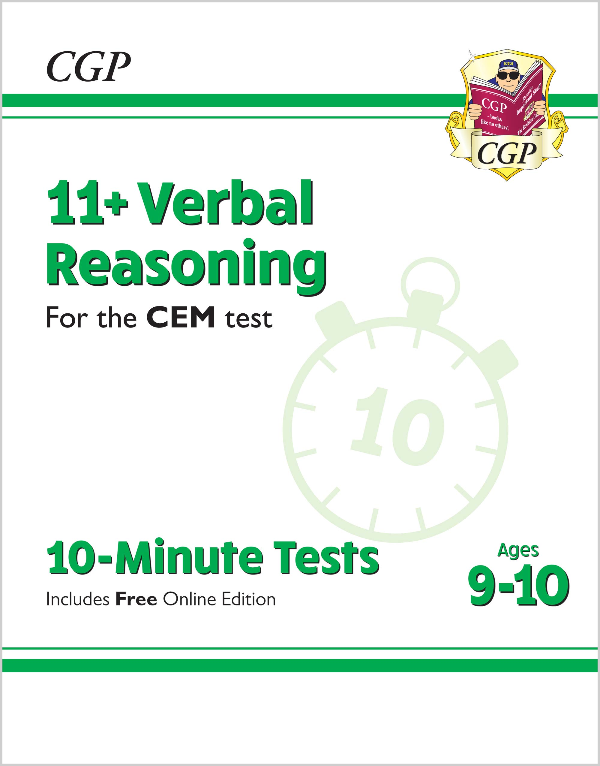 V5XPDE2 - New 11+ CEM 10-Minute Tests: Verbal Reasoning - Ages 9-10 (with Online Edition)